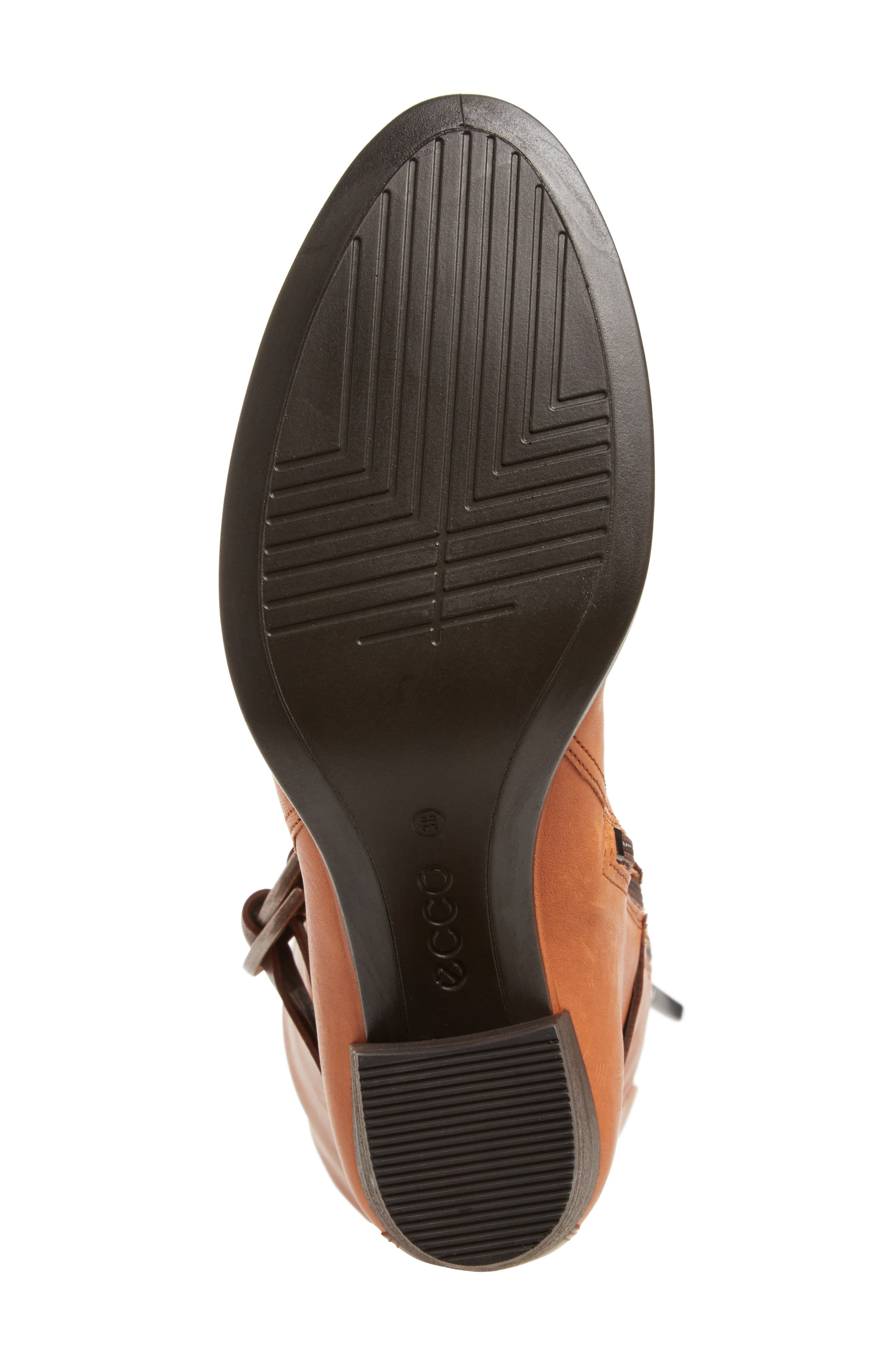 Shape 55 Tall Boot,                             Alternate thumbnail 6, color,                             Cognac Leather