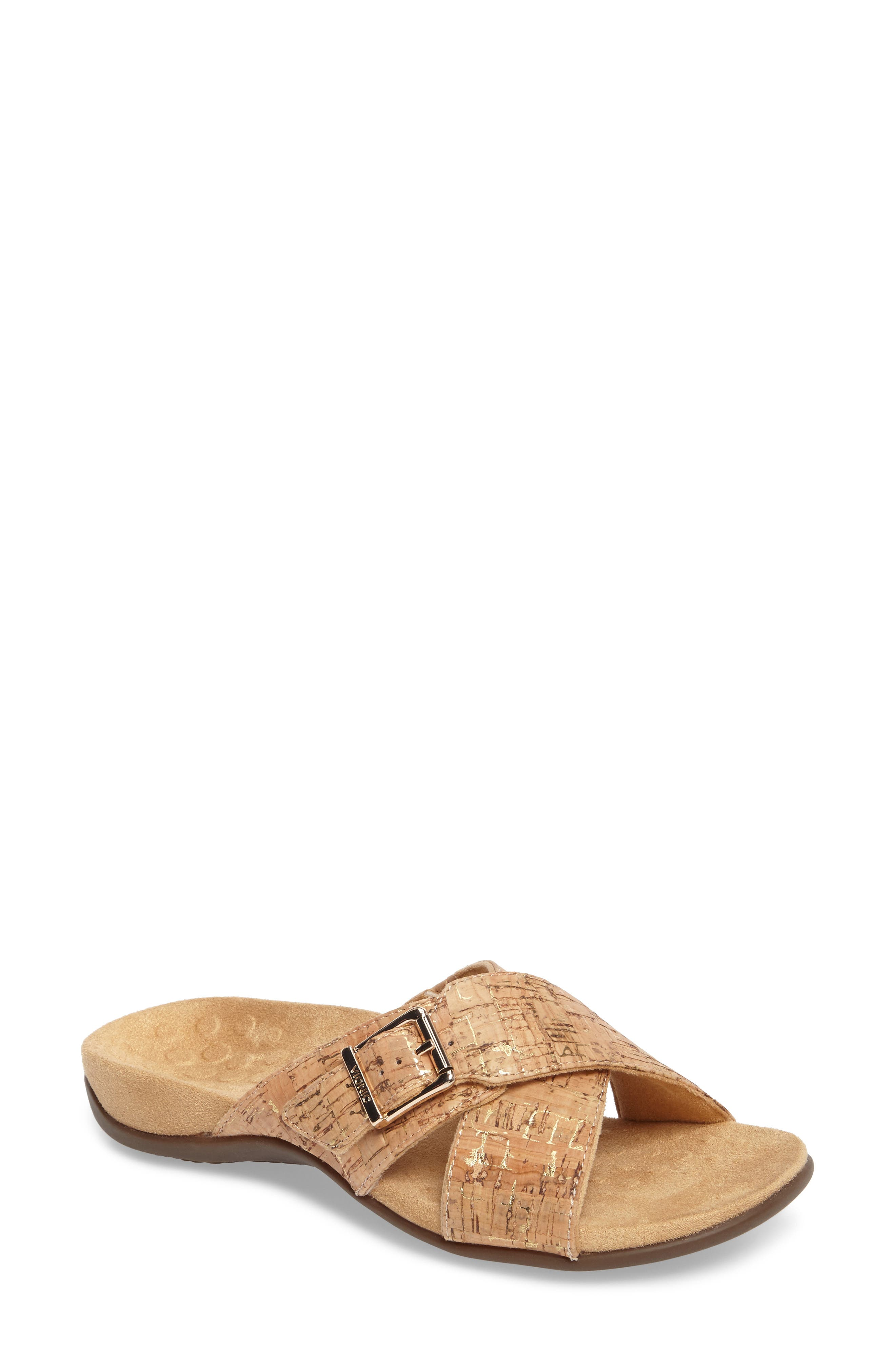 Vionic Dorie Cross Strap Slide Sandal (Women)