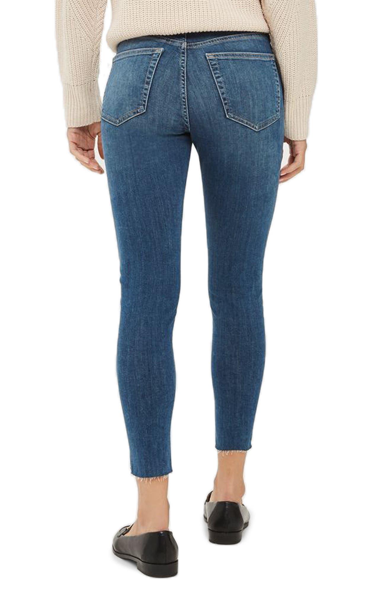 Alternate Image 3  - Topshop Jamie Raw Hem Crop Skinny Jeans (Petite)
