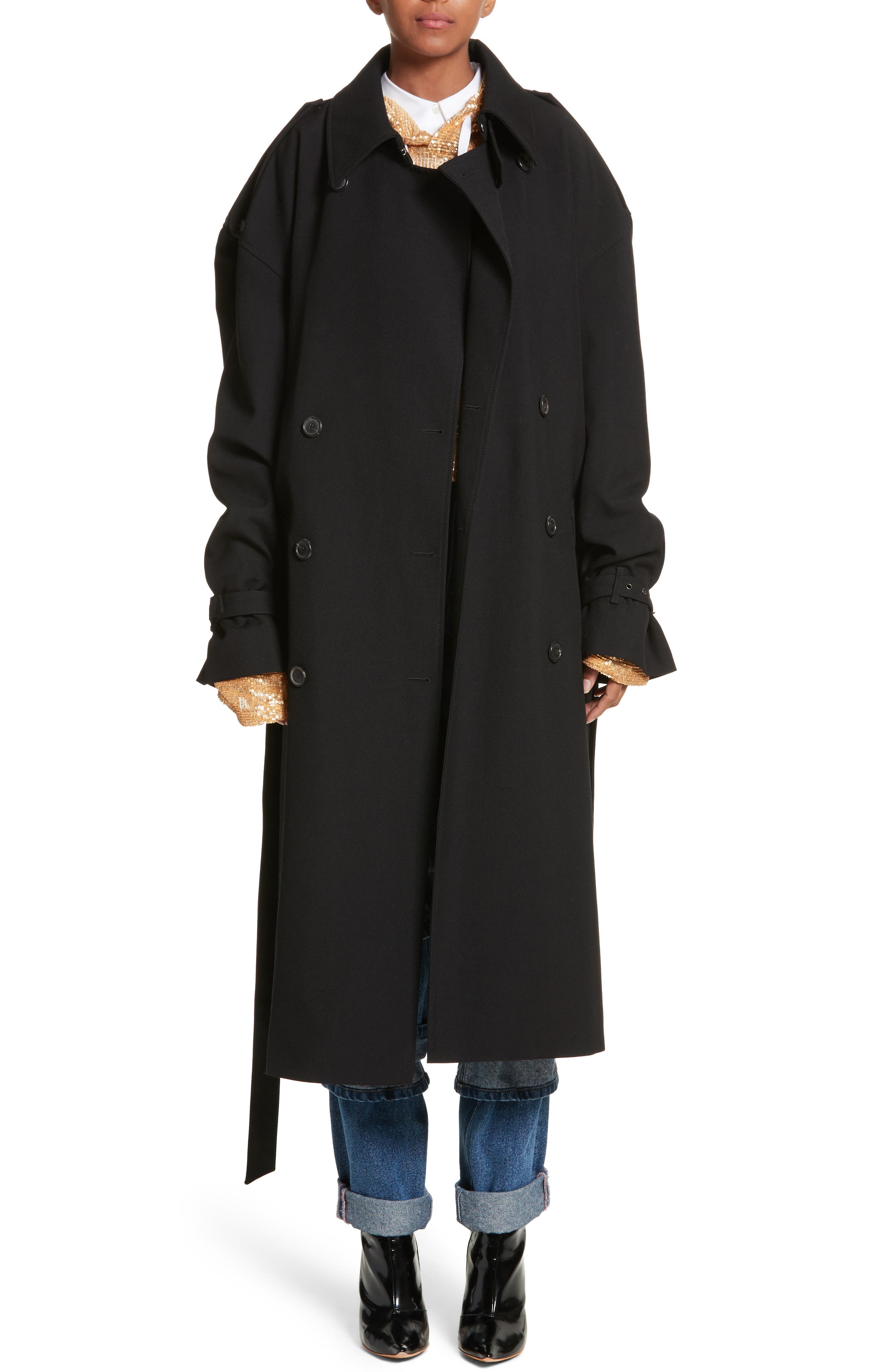 Main Image - Y/PROJECT Double Breasted Wool Coat