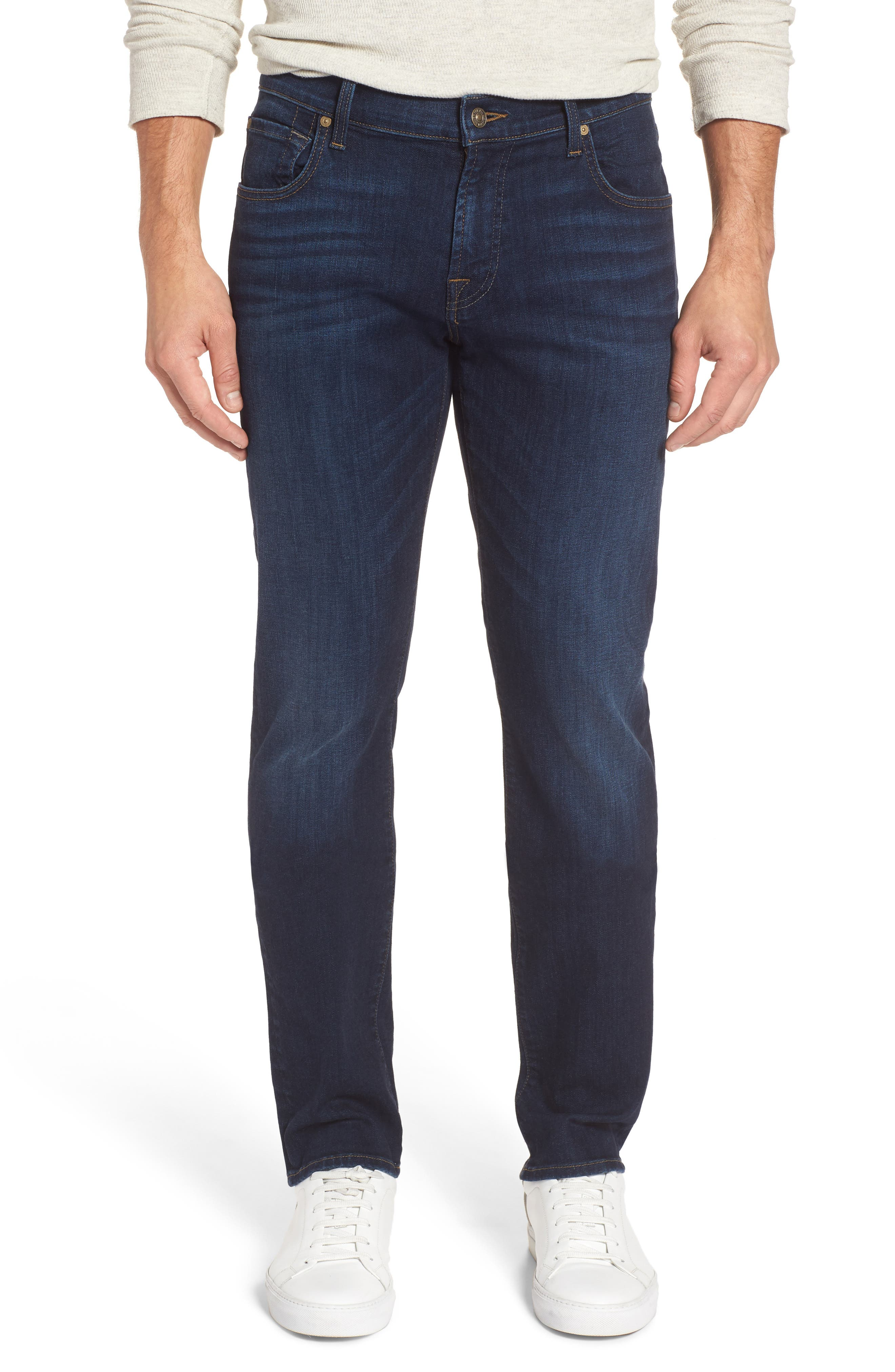 Main Image - 7 For All Mankind® The Straight Slim Straight Leg Jeans (Valley)