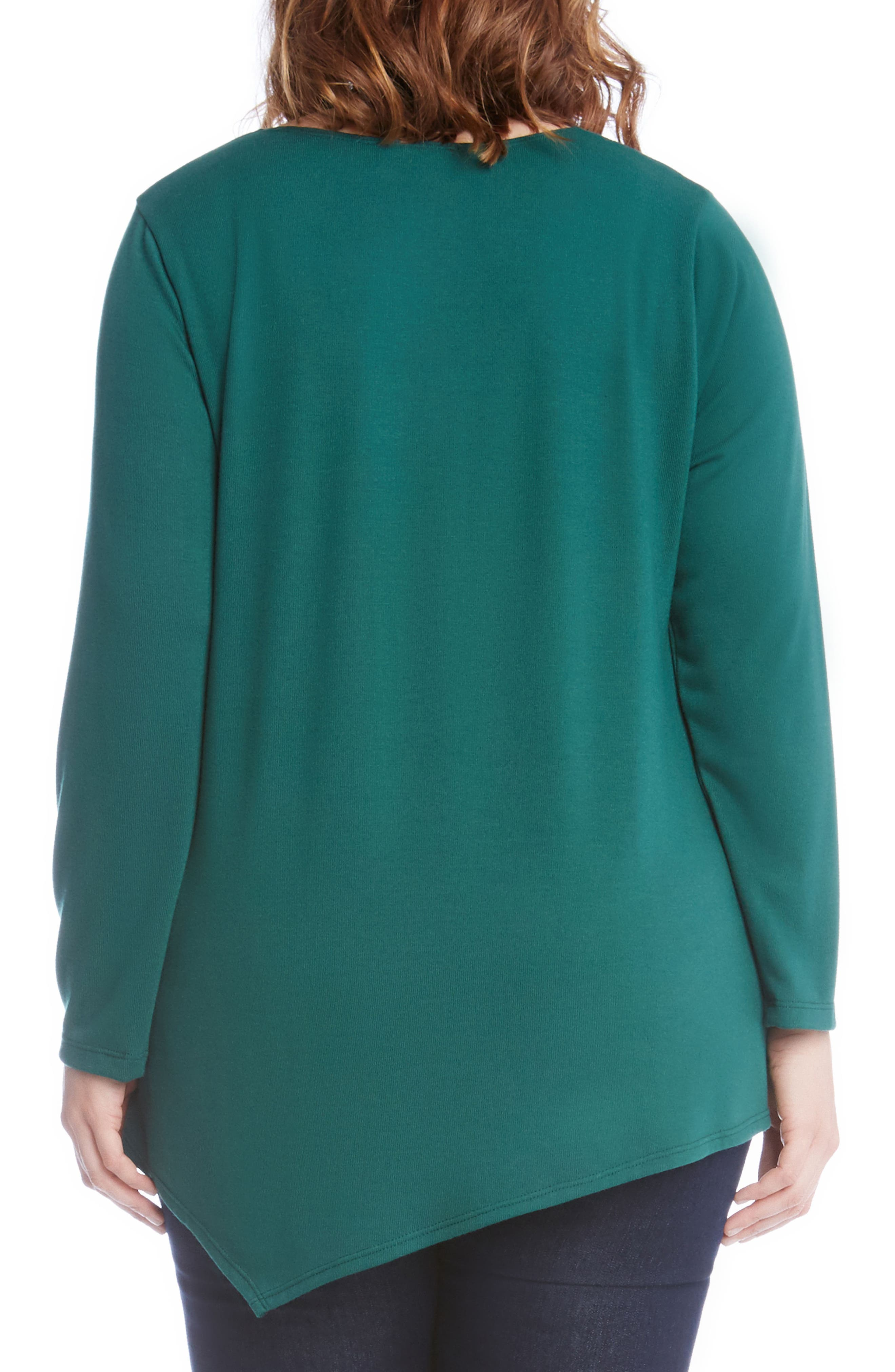 Alternate Image 3  - Karen Kane Asymmetrical Hem Sweater (Plus Size)