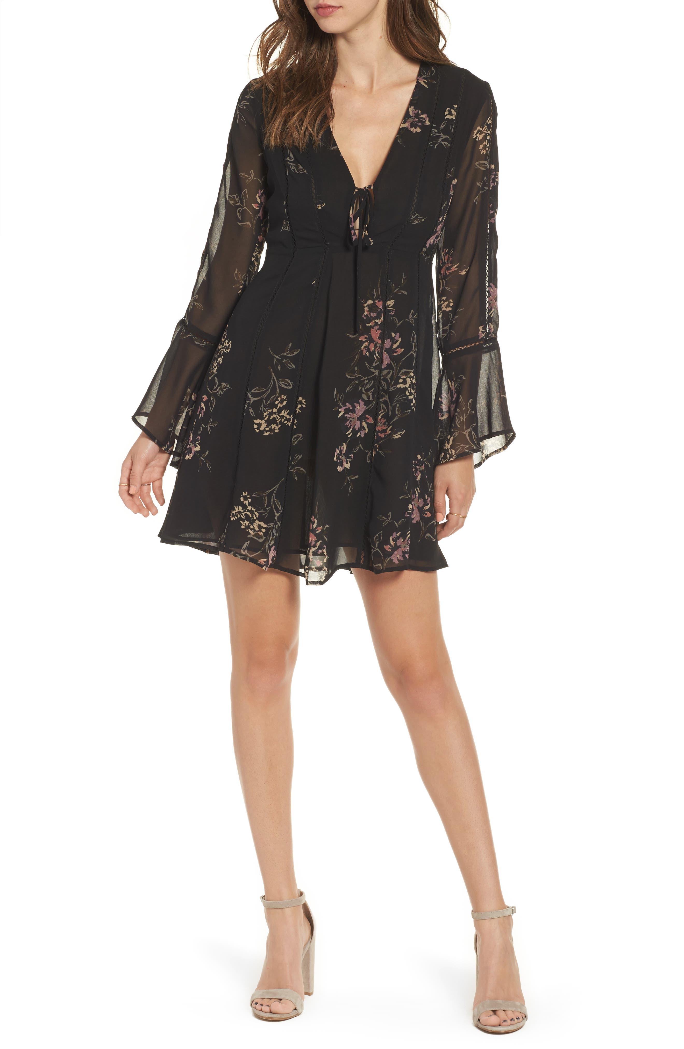 ASTR the Label Crystal Babydoll Dress