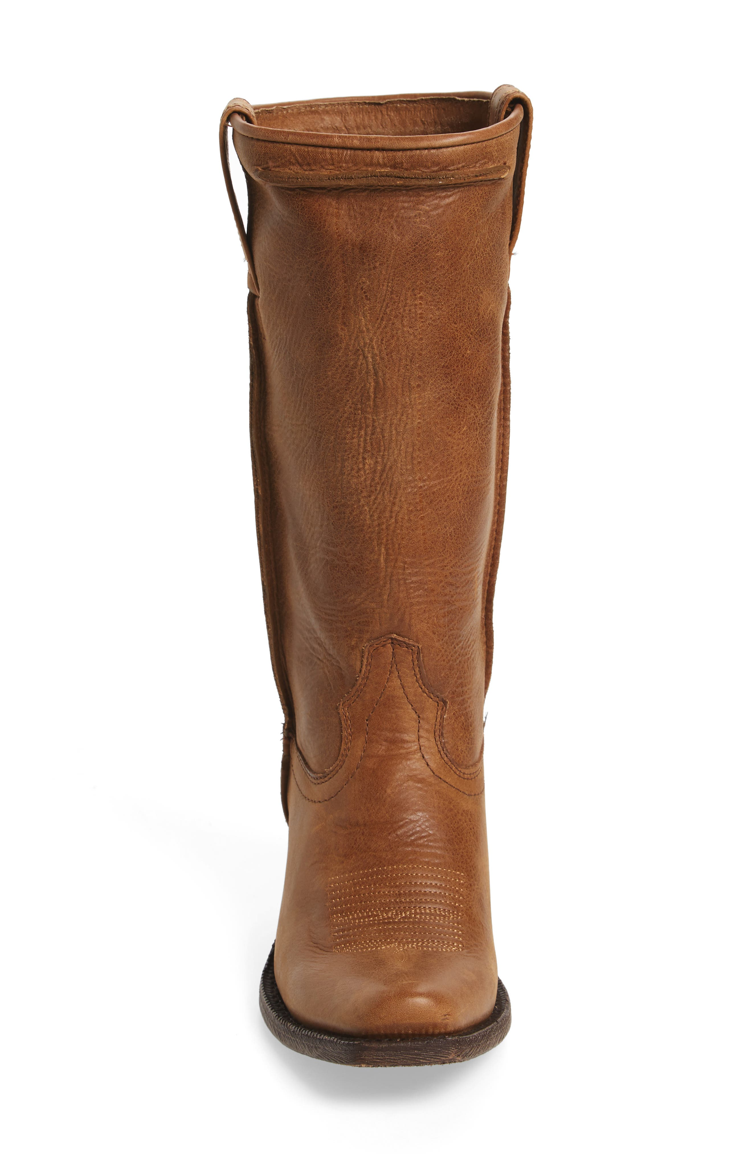Rowan Stovepipe Western Boot,                             Alternate thumbnail 4, color,                             Southern Tan Leather