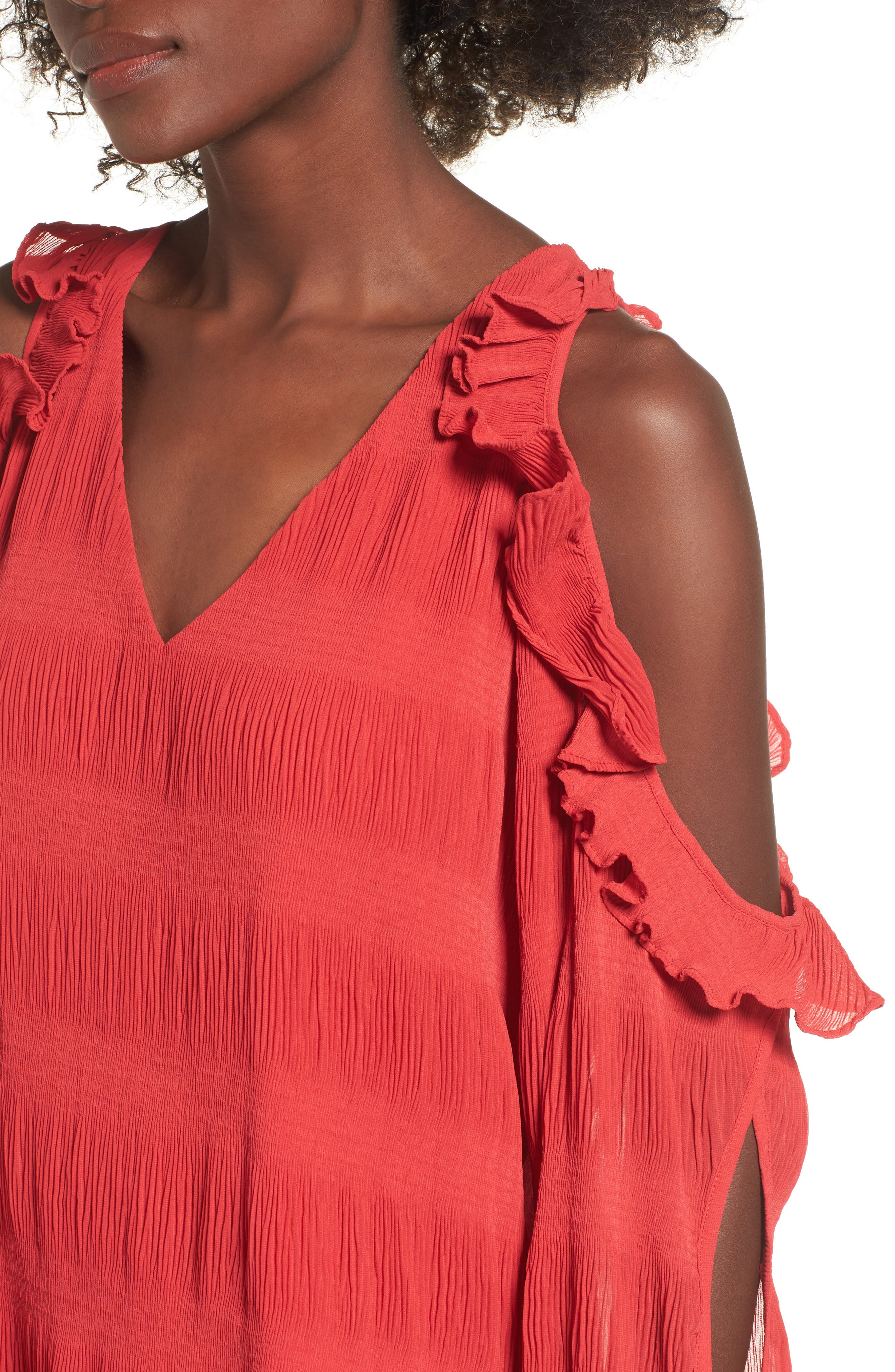 Alternate Image 4  - devlin Topaz Cold Shoulder Blouse