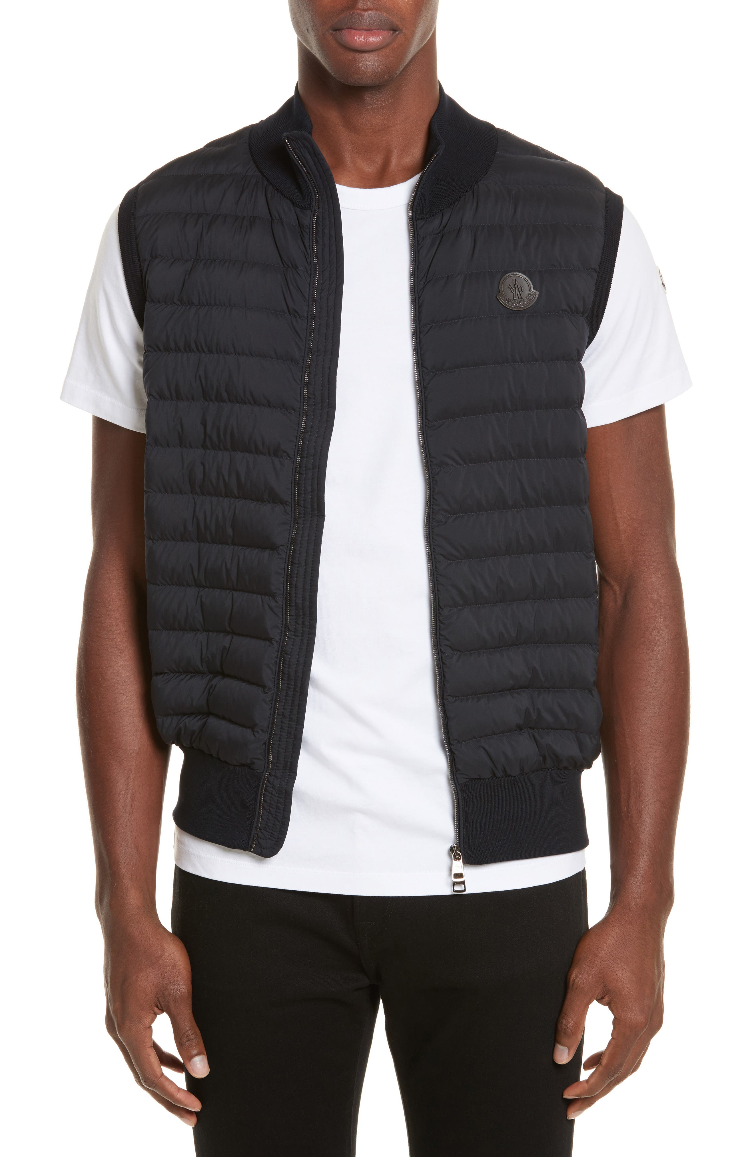 Moncler Maglia Tricot Quilted Vest
