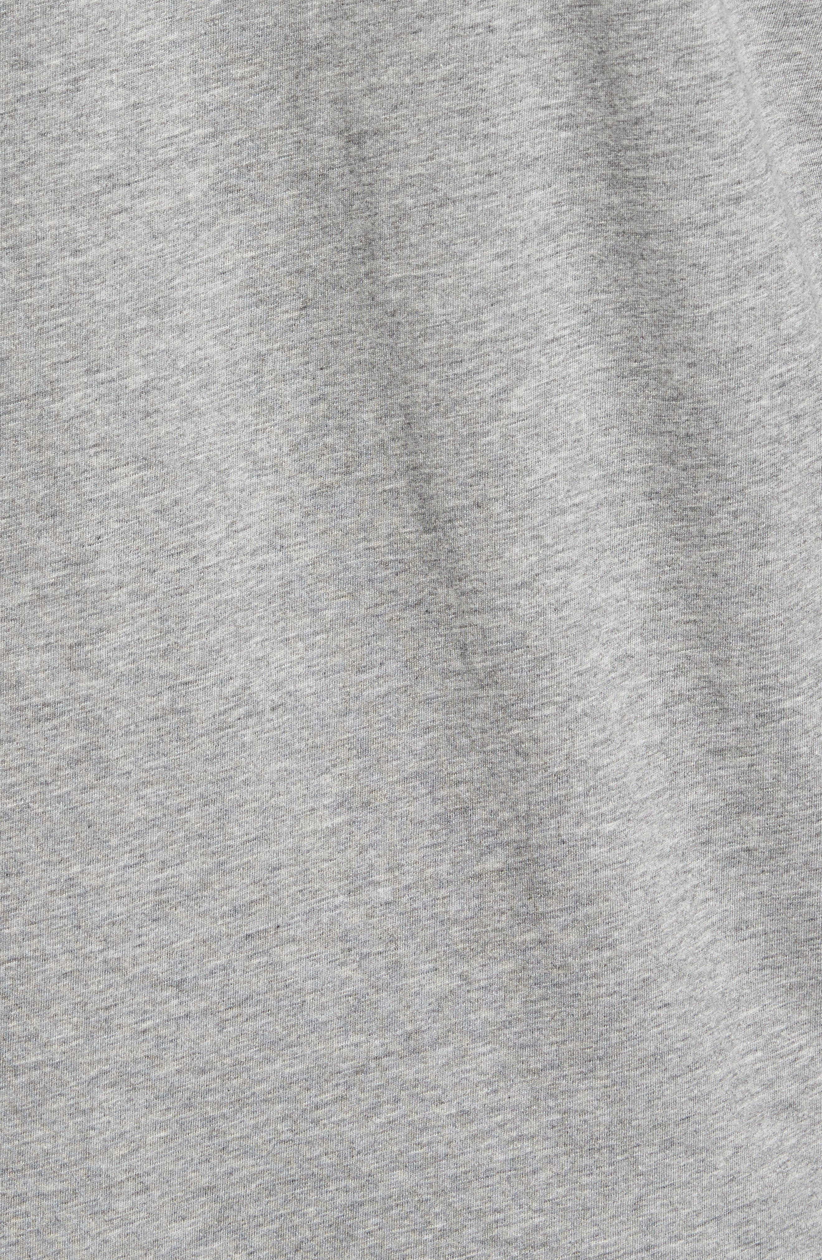 Delano Henley Hoodie,                             Alternate thumbnail 5, color,                             Heather Grey