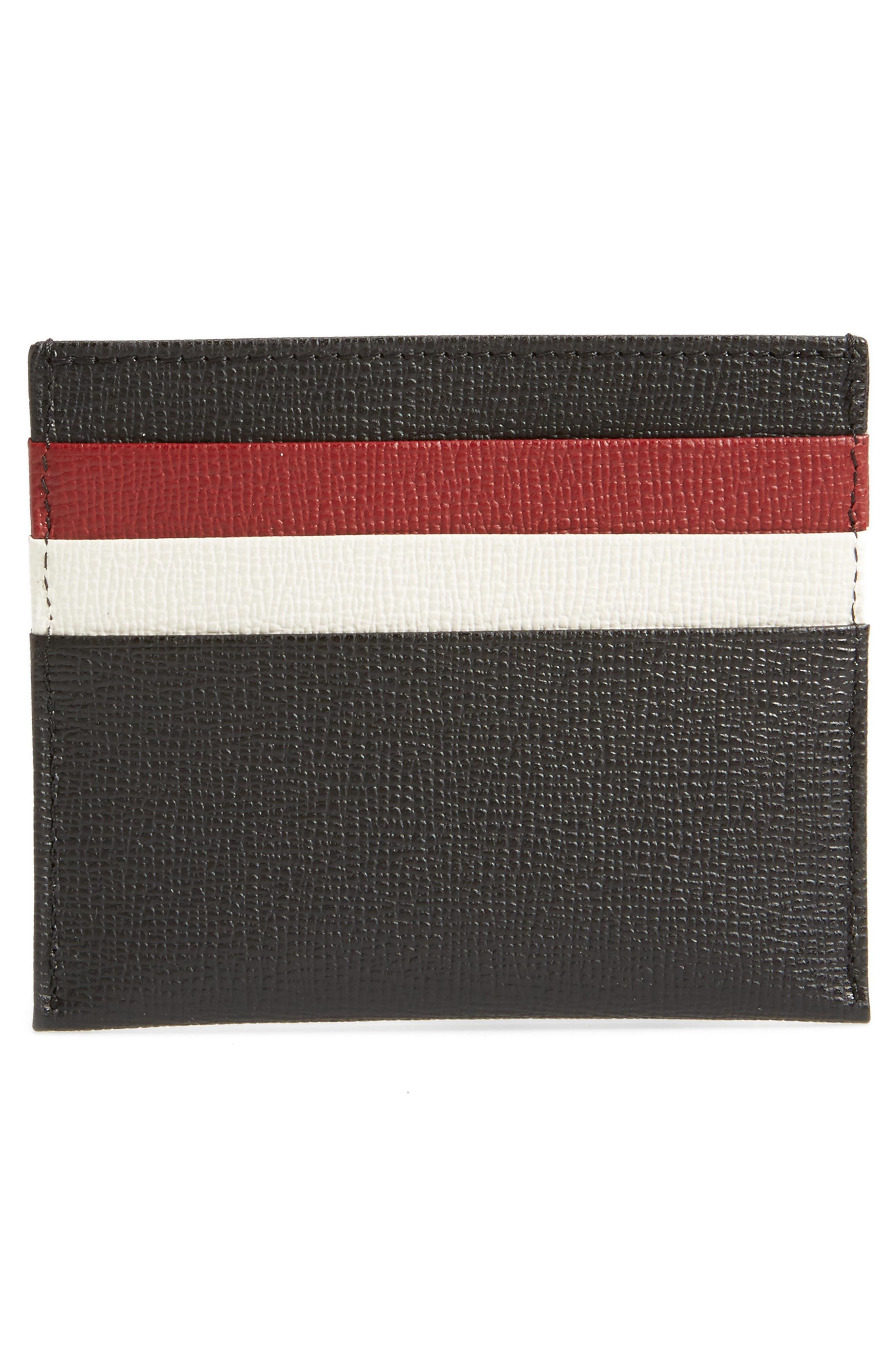 Effrontée Slim Leather Card Case,                             Alternate thumbnail 2, color,                             Red Lacquer