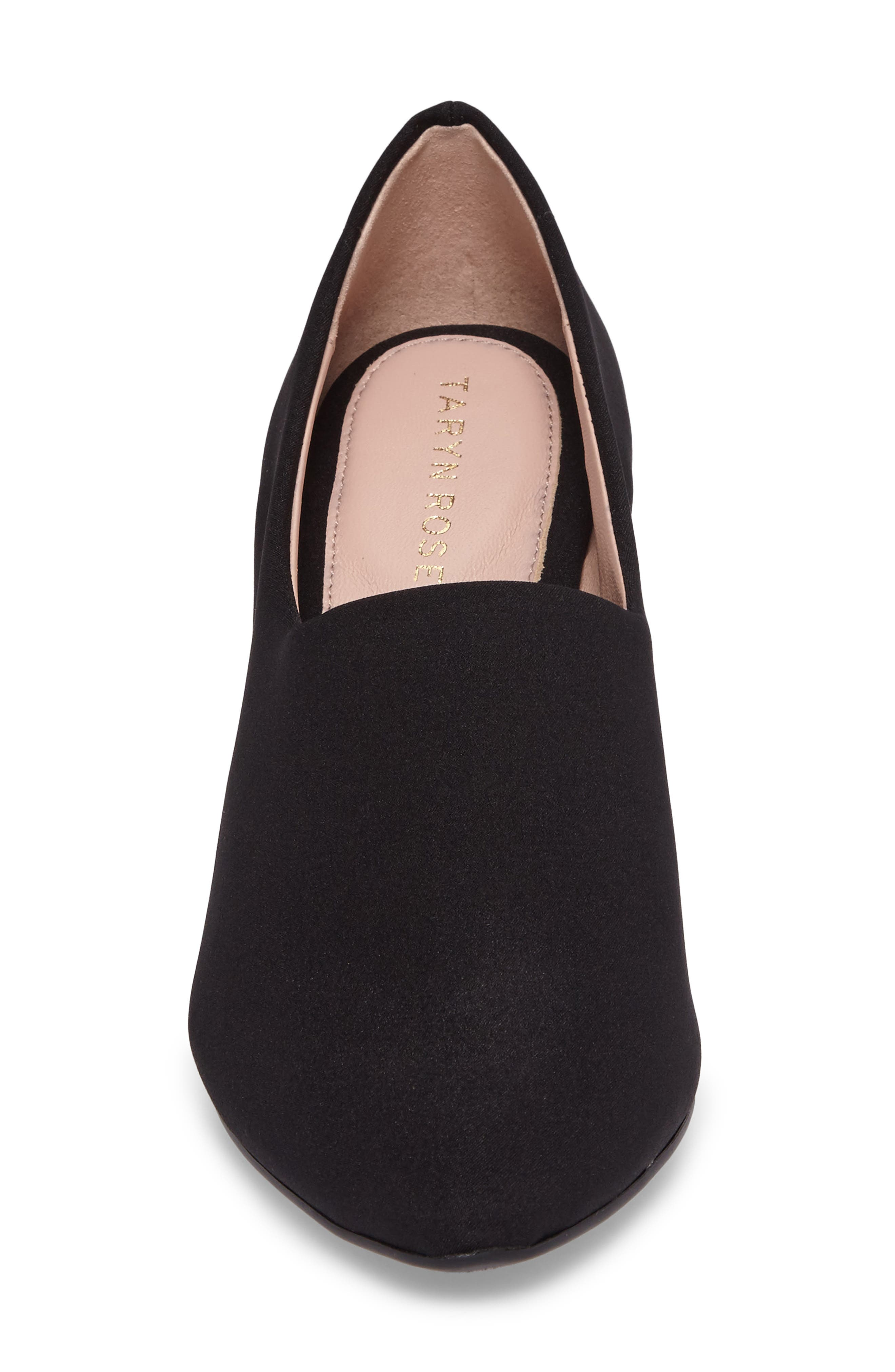 Yvonne Pointy Toe Wedge,                             Alternate thumbnail 4, color,                             Black Fabric