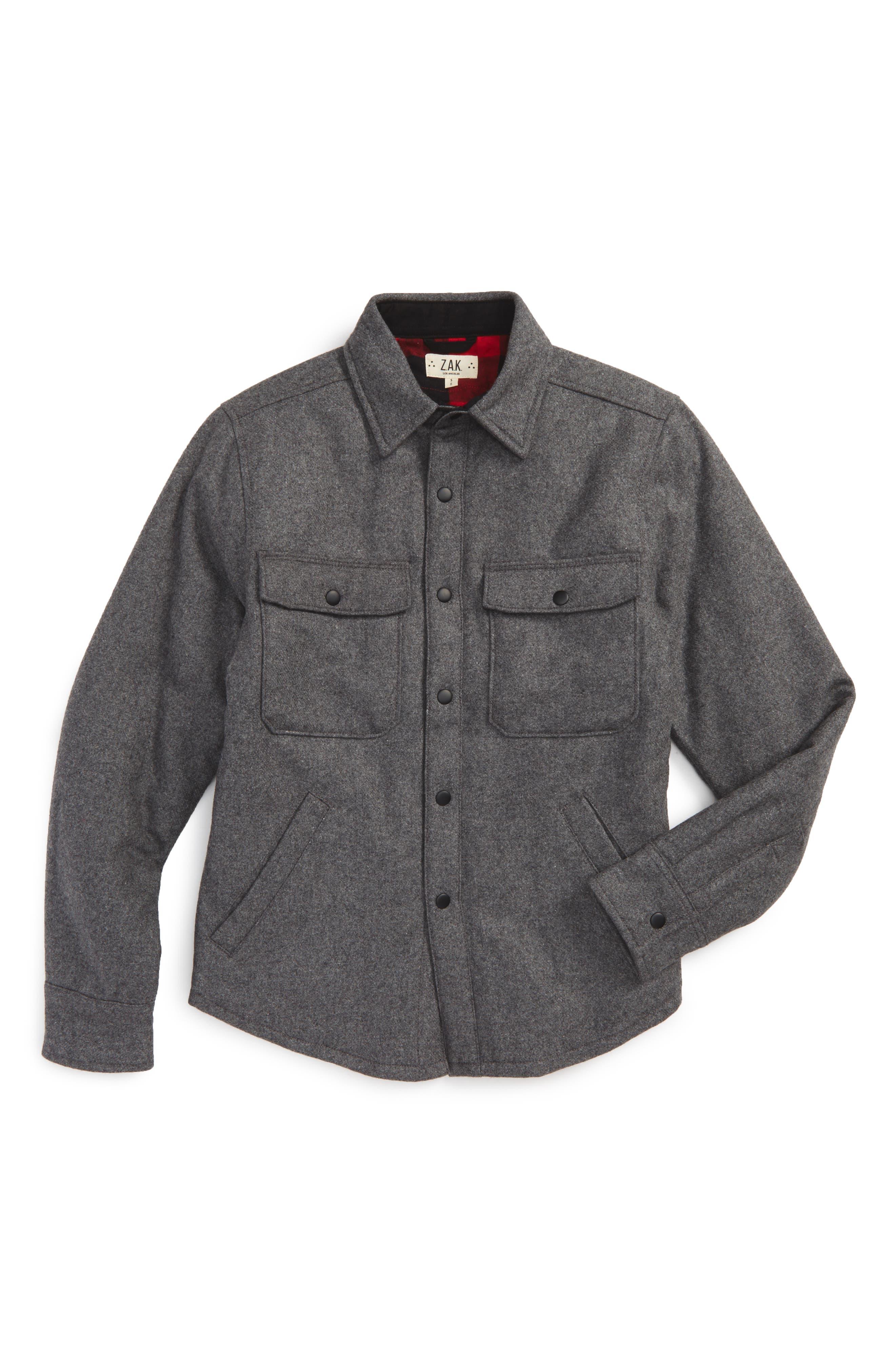 Main Image - Z.A.K. Brand Flannel Shirt Jacket (Little Boys)