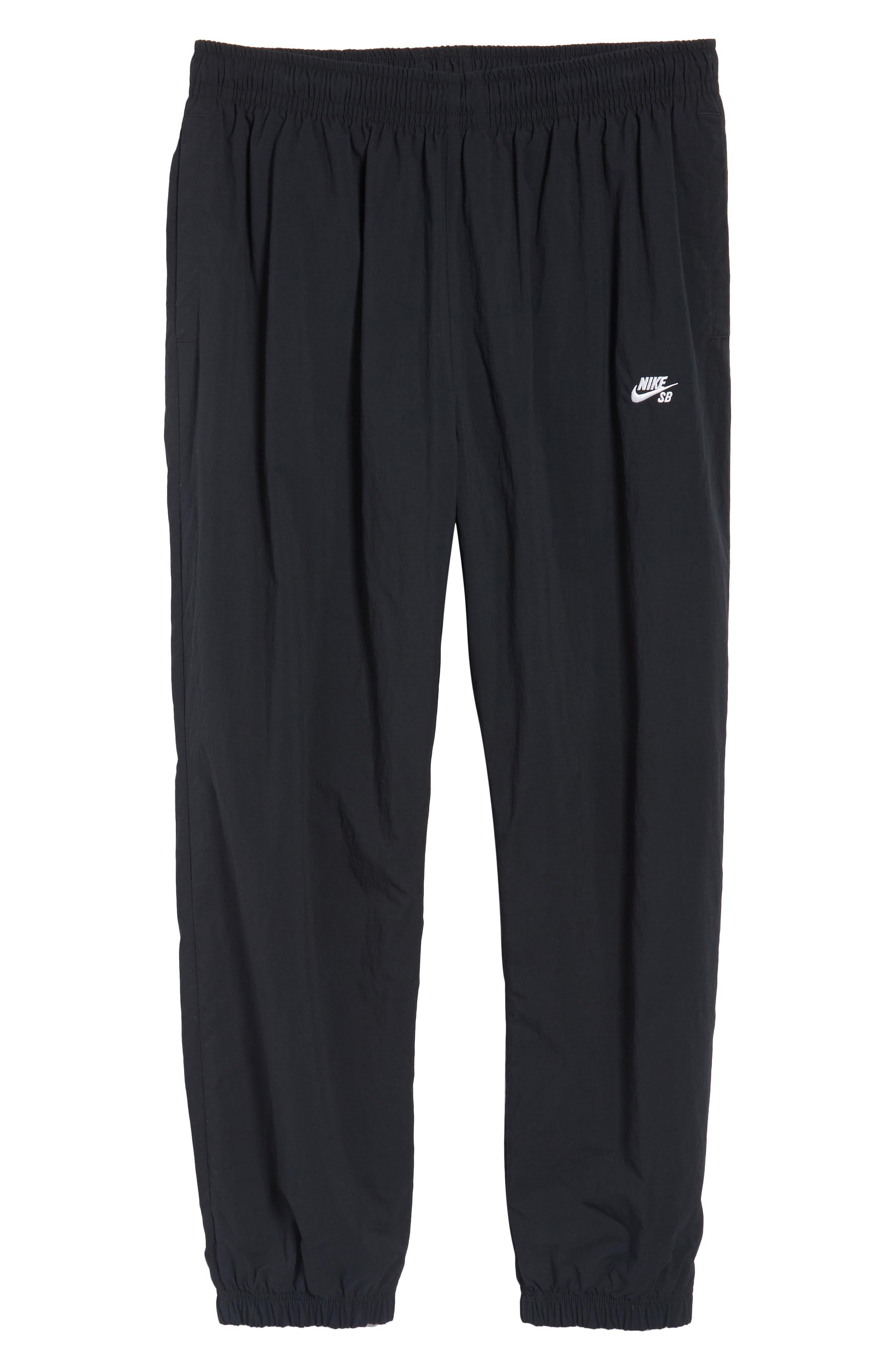 Flex Woven Pants,                             Alternate thumbnail 6, color,                             Black/ White