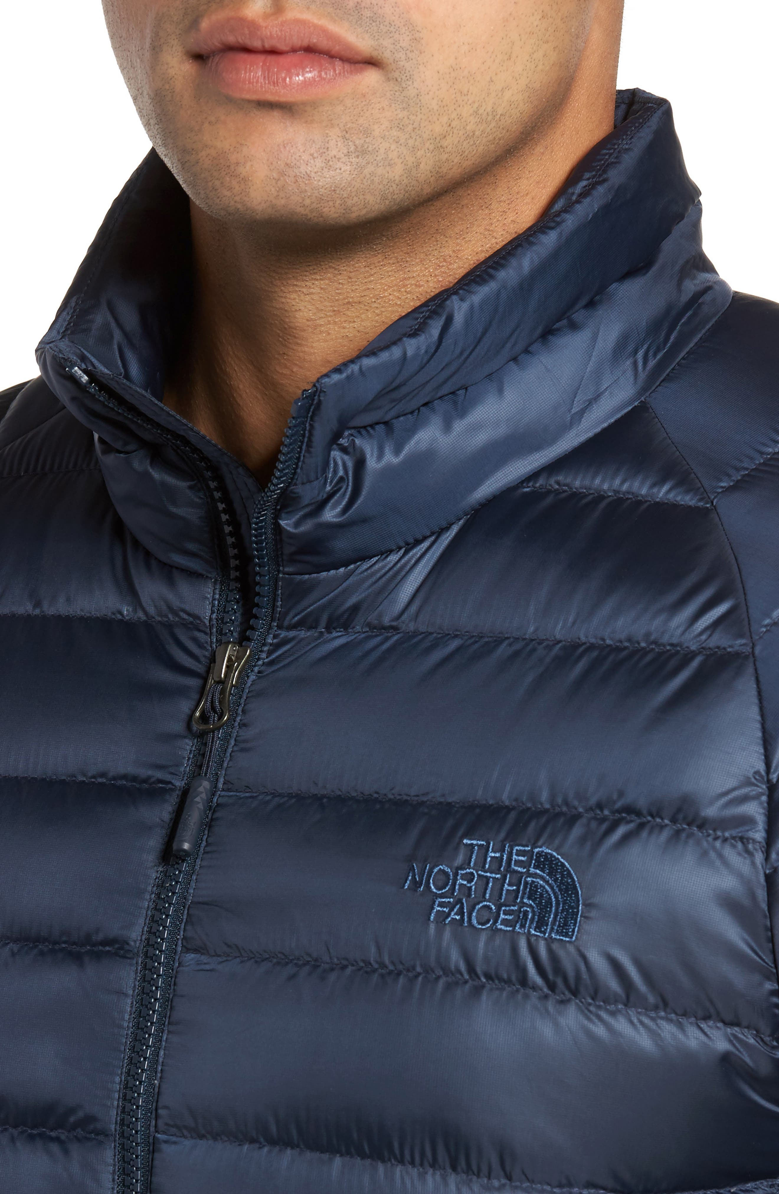 Trevail Water Repellent Packable Down Jacket,                             Alternate thumbnail 4, color,                             Urban Navy/ Urban Navy