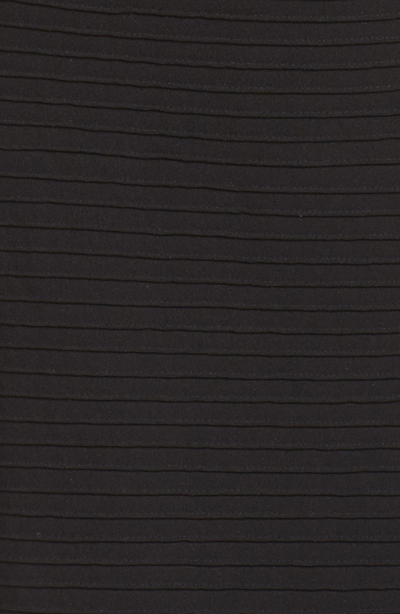 Alternate Image 5  - Tadashi Shoji Pintuck One-Shoulder Gown (Regular & Petite)