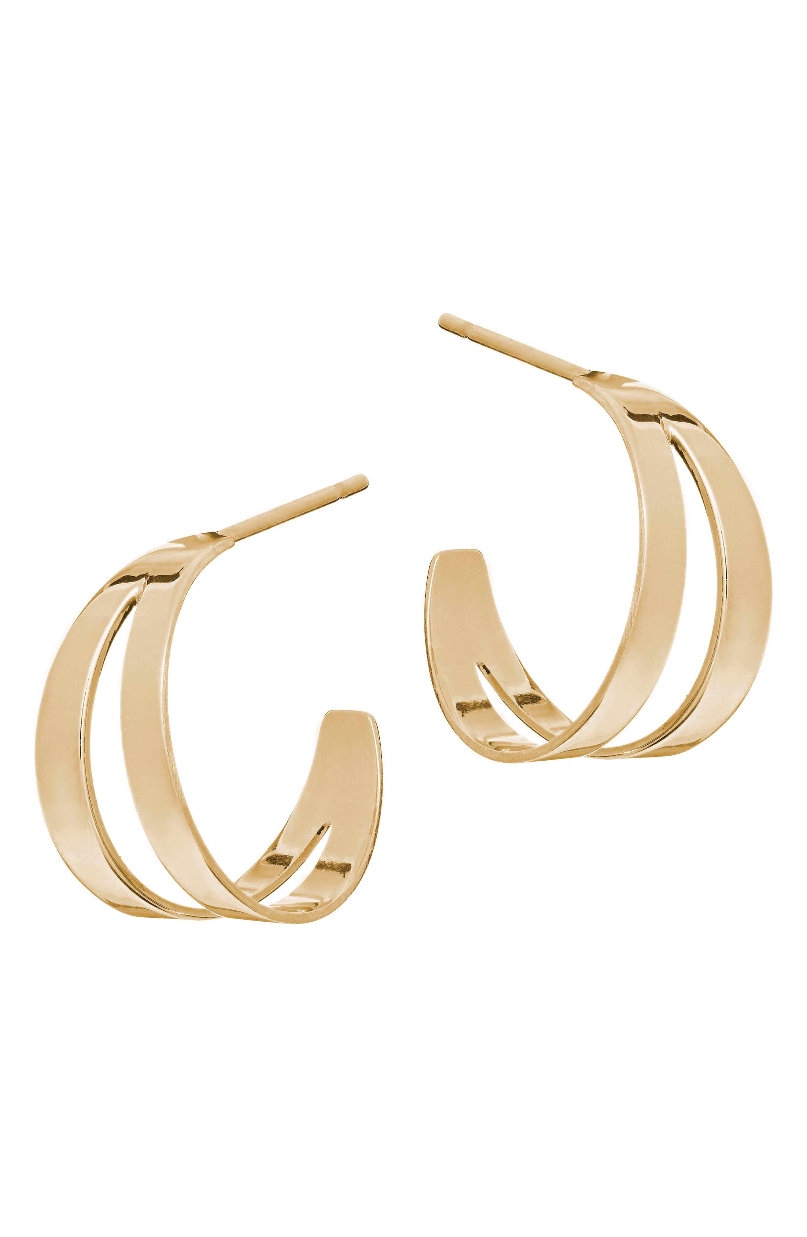 Small Hoop Earrings,                             Main thumbnail 1, color,                             Yellow Gold