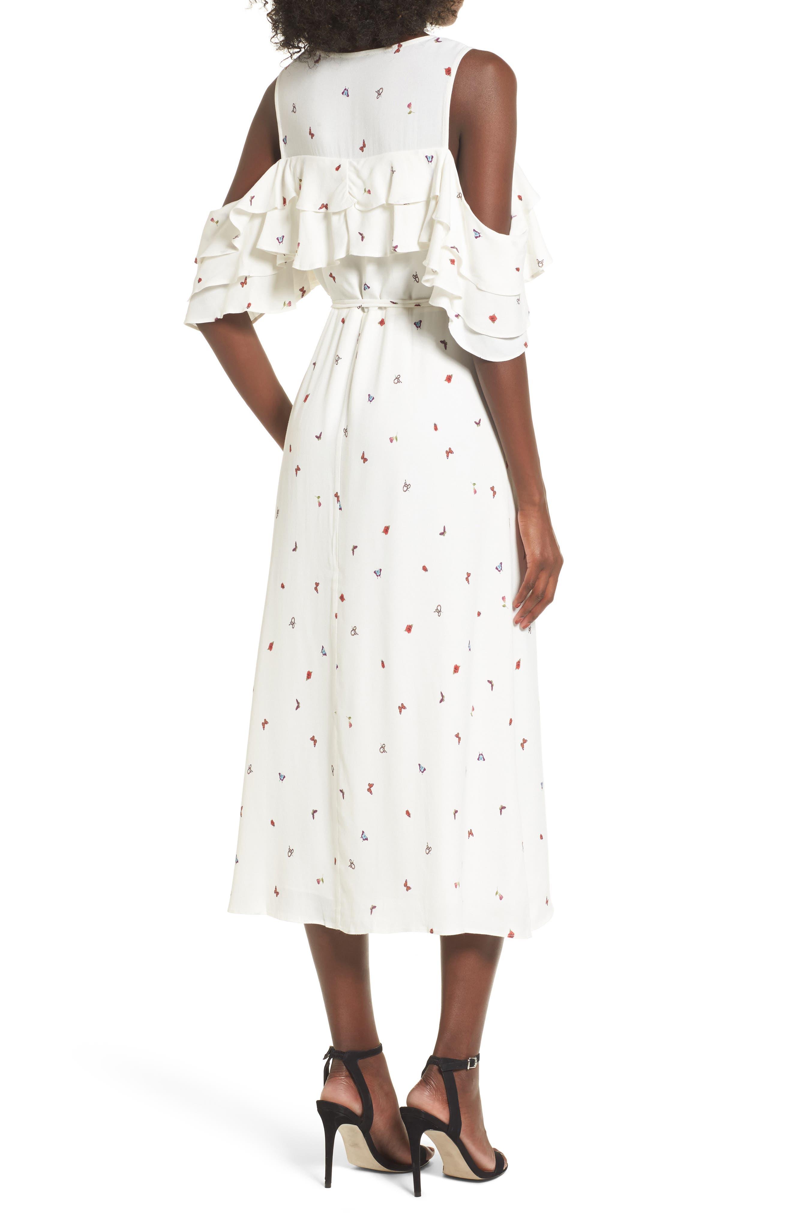 Alternate Image 2  - AFRM Daisy Ruffle Midi Dress