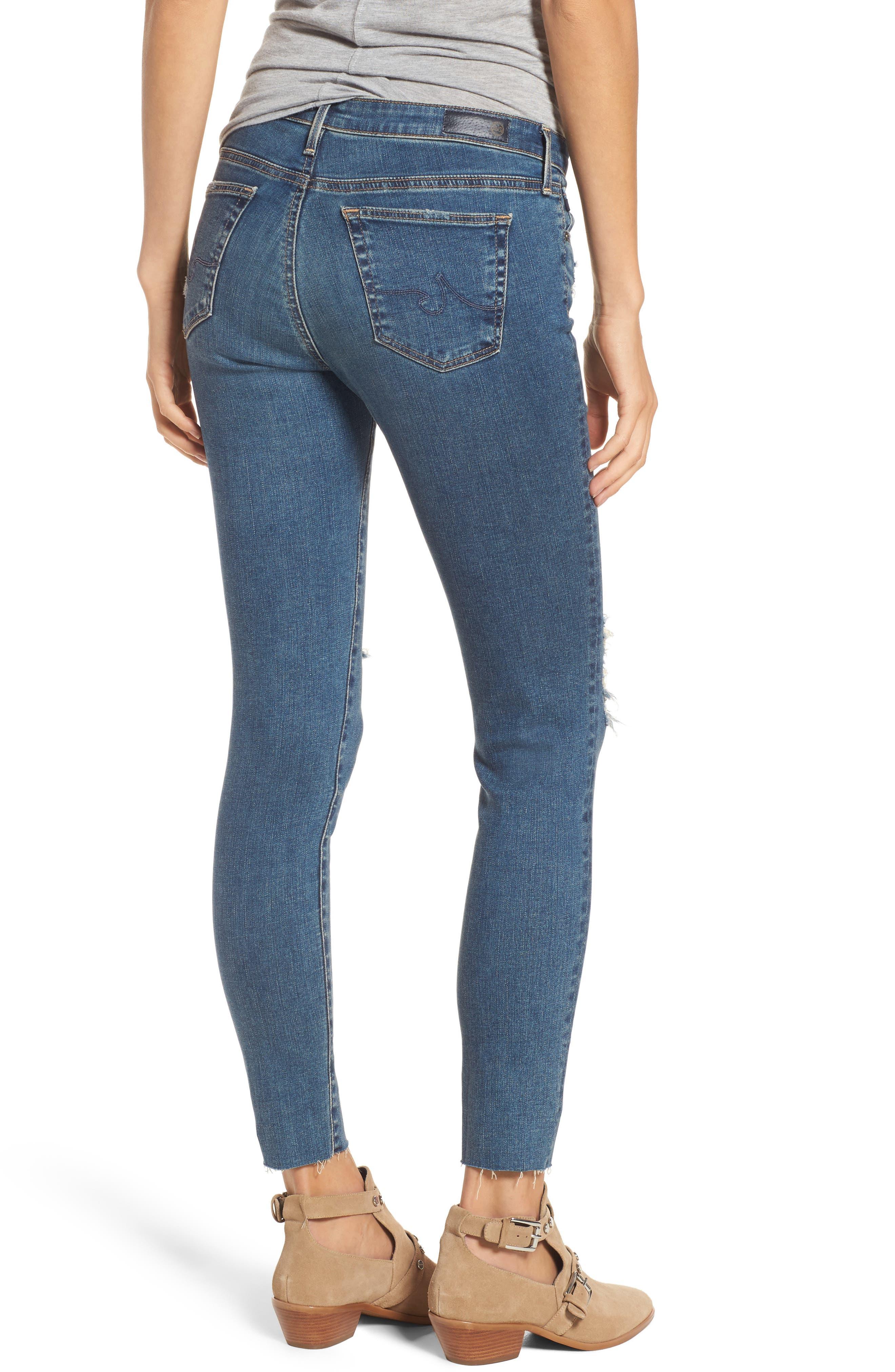 The Legging Ankle Super Skinny Jeans,                             Alternate thumbnail 2, color,                             Serendipitous Destructed