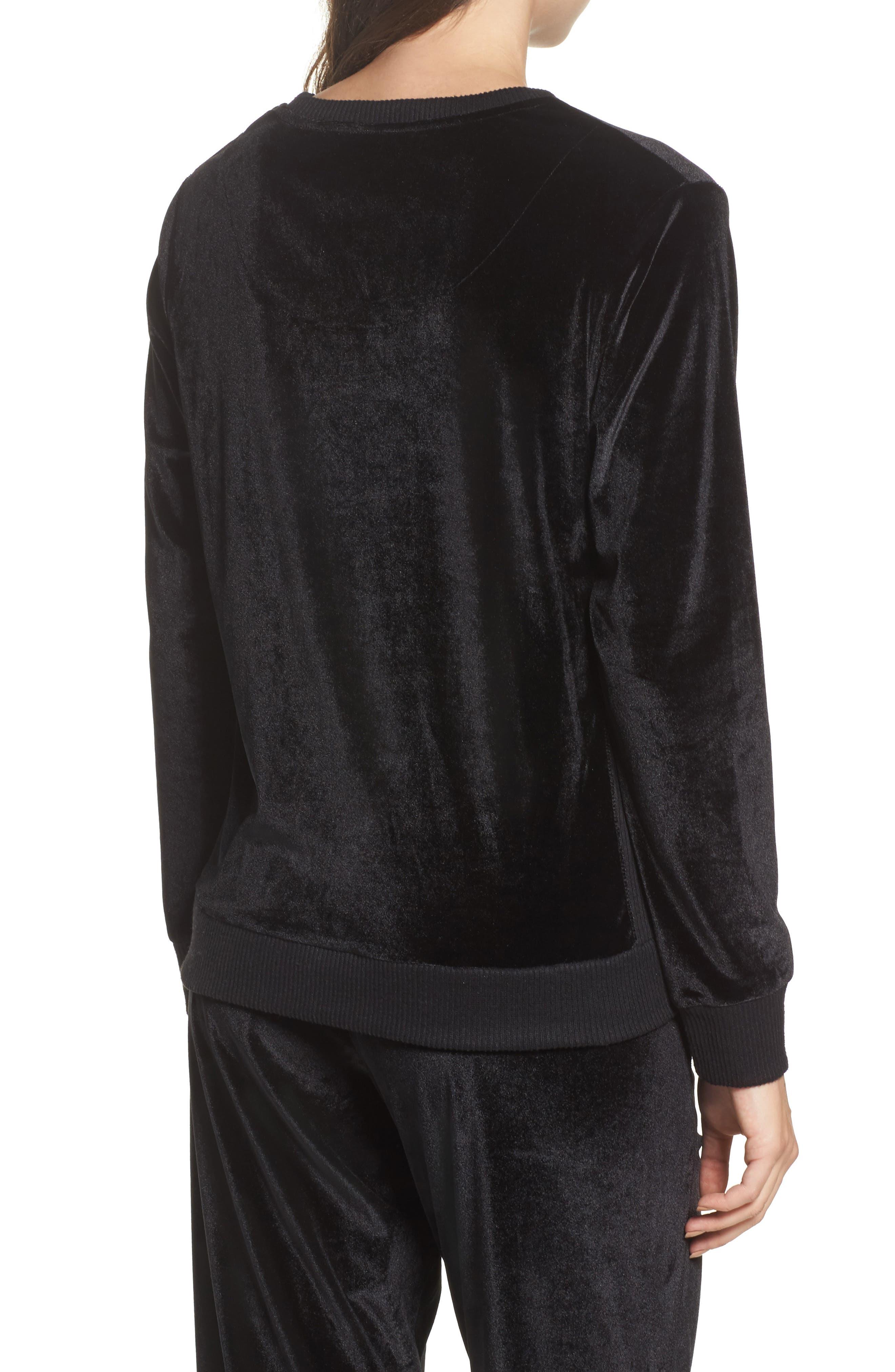 Alternate Image 2  - DKNY Velour Sweatshirt