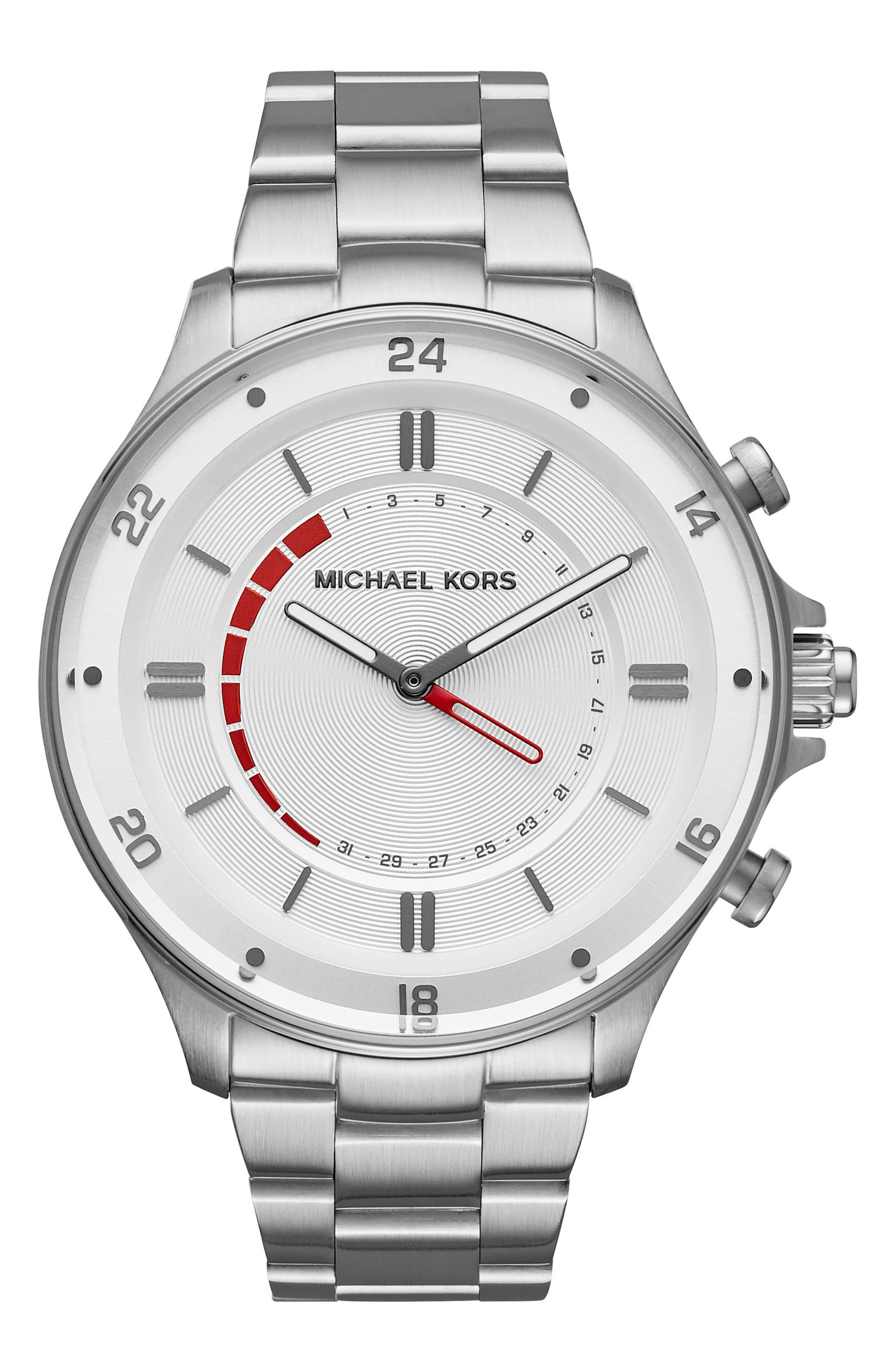 Main Image - Michael Kors Access Reid Hybrid Bracelet Watch, 45mm