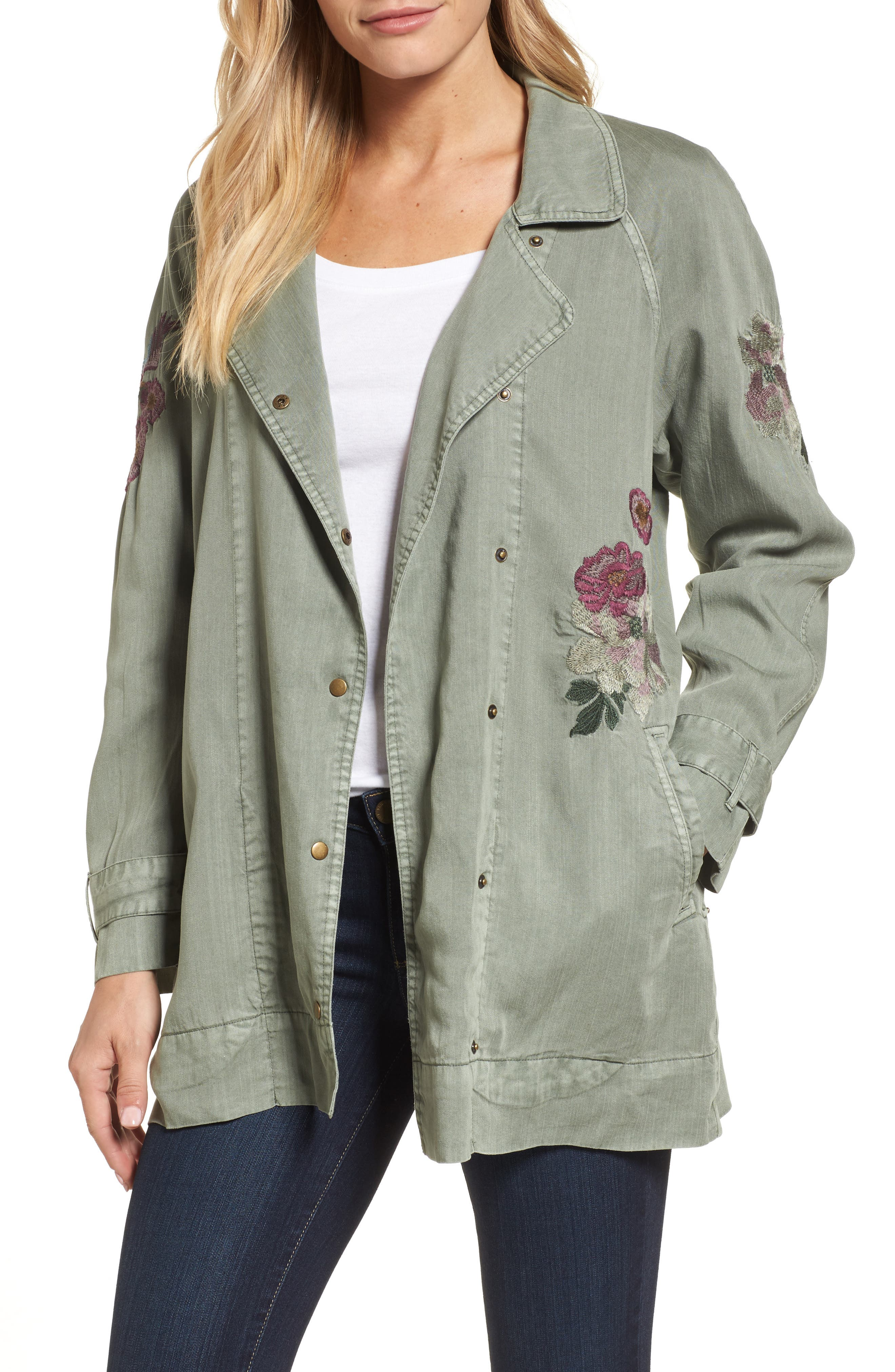 Billy T Embroidered Chambray Jacket
