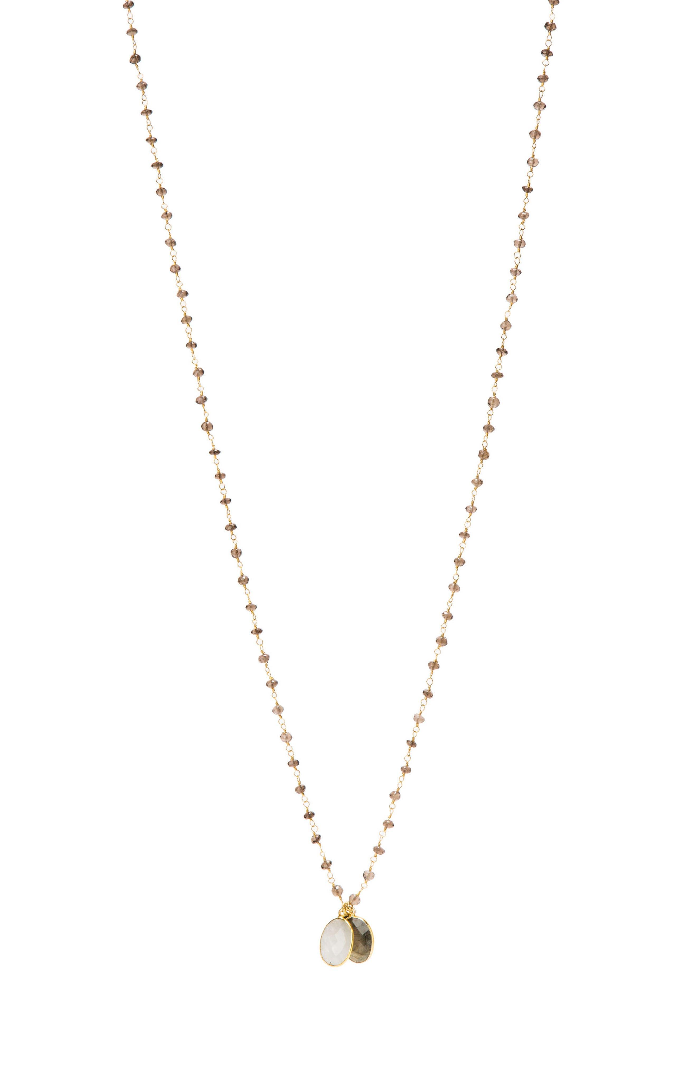 Grenada Long Pendant Necklace,                         Main,                         color, Labradorite