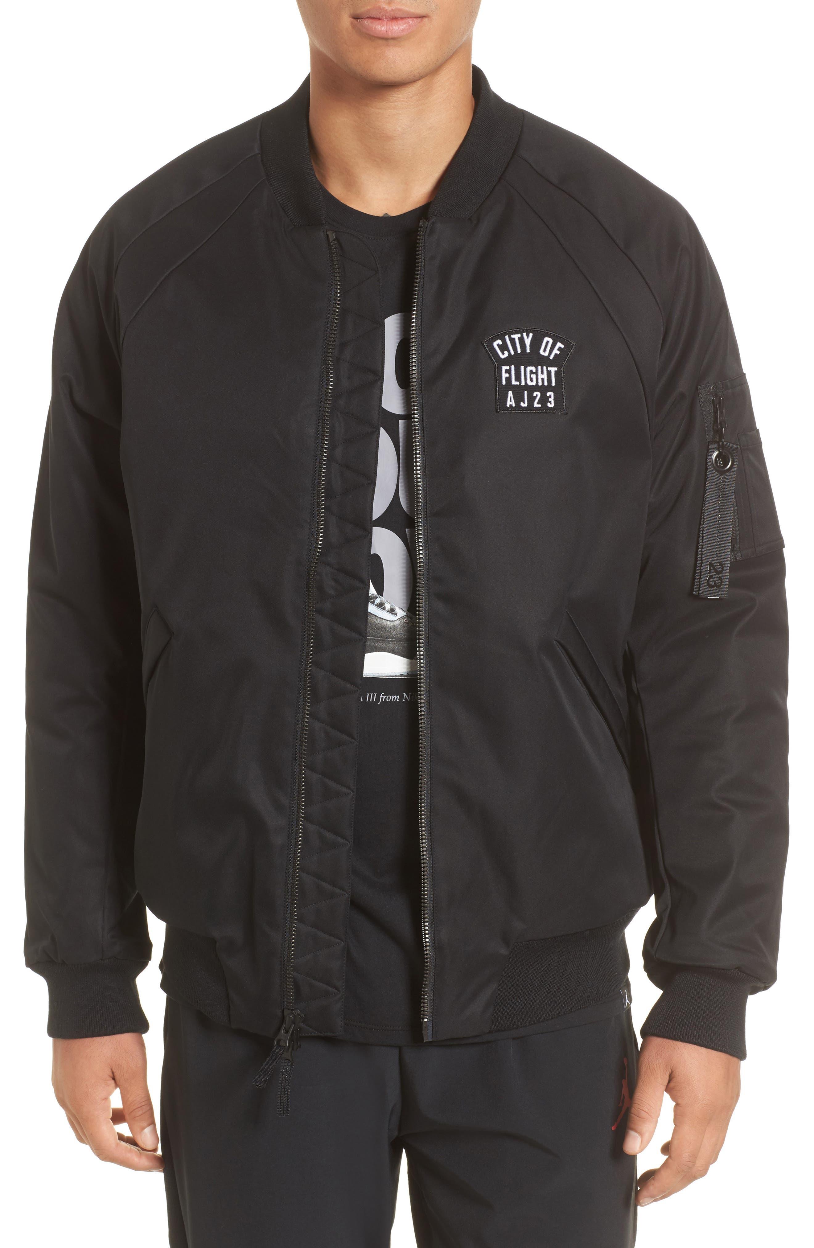 Sportswear City of Flight MA-1 Bomber Jacket,                         Main,                         color, Black