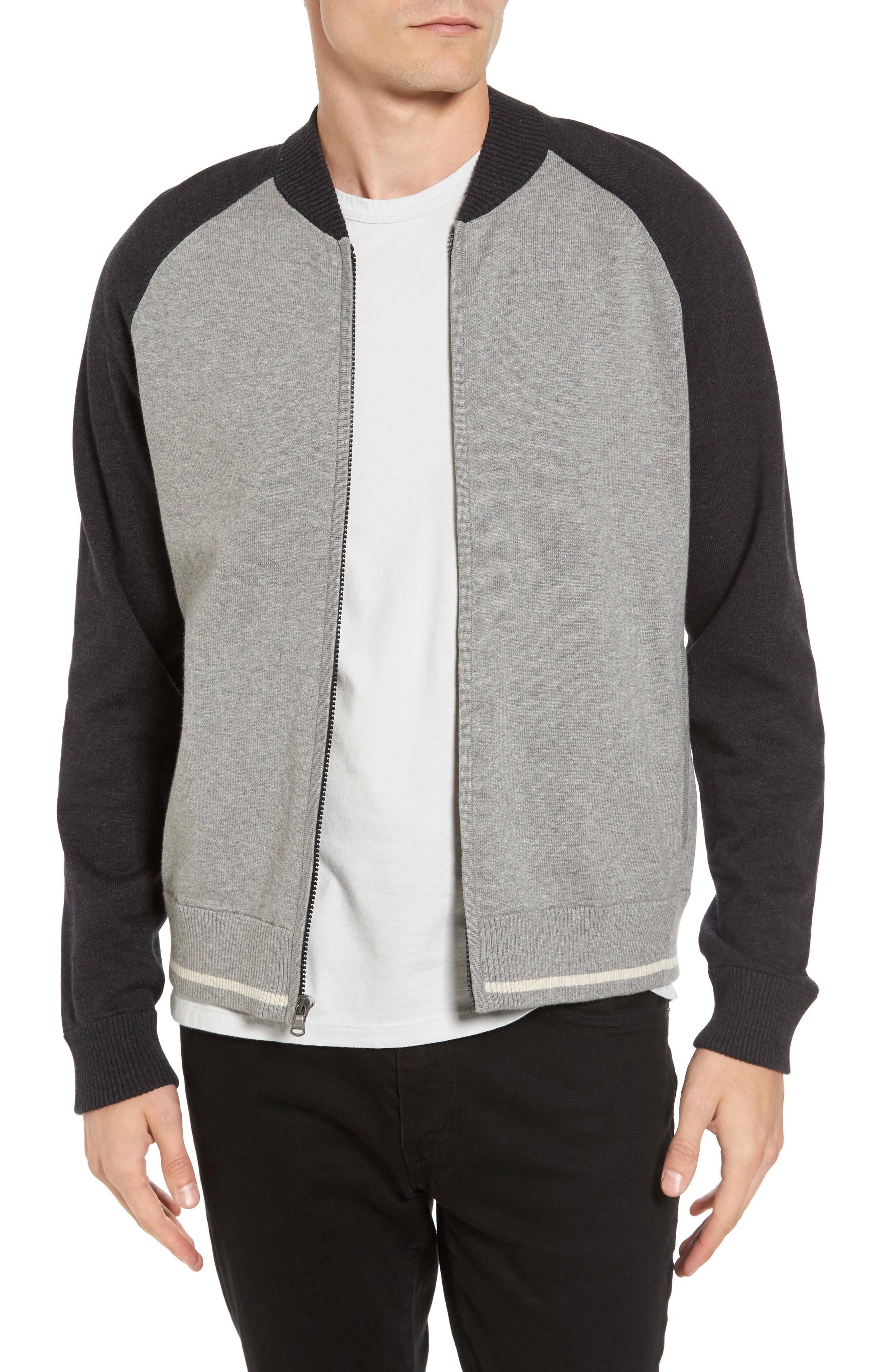 Alternate Image 1 Selected - James Perse Colorblock Knit Track Jacket