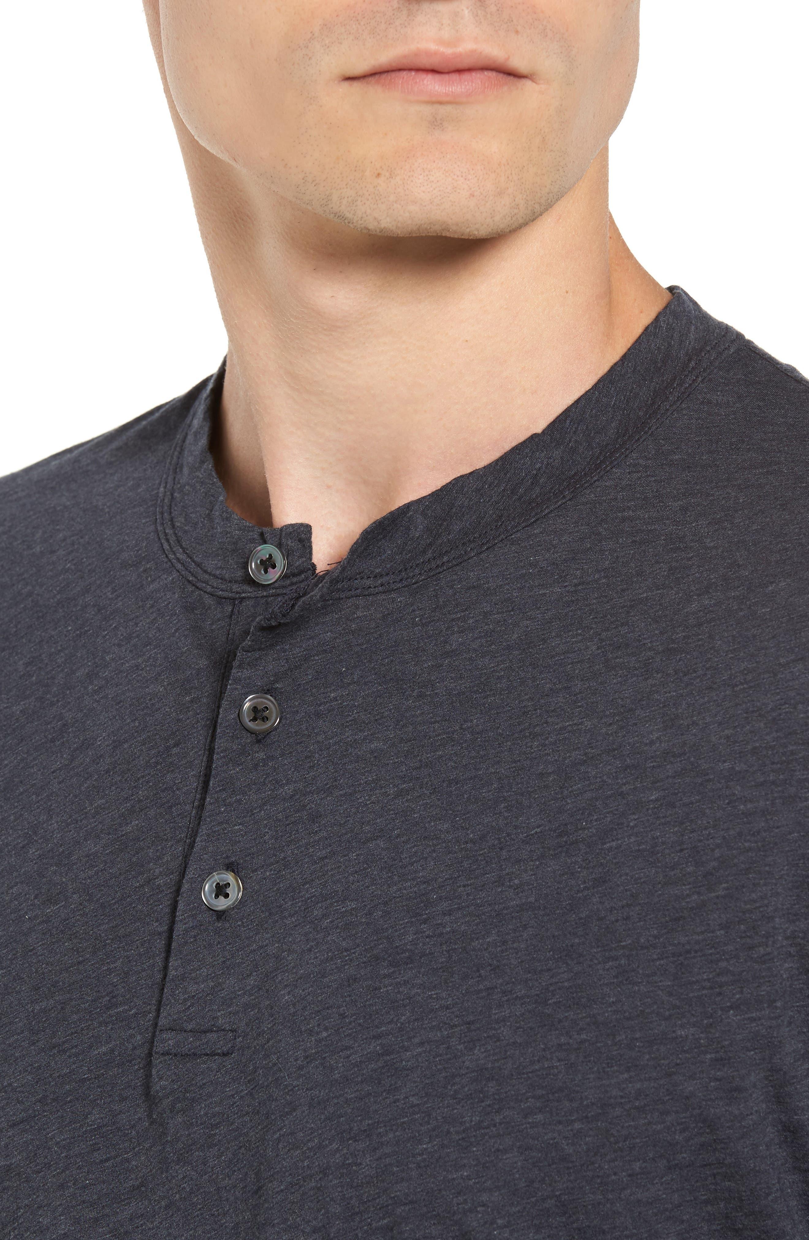 Alternate Image 4  - James Perse Long Sleeve Cotton & Cashmere Henley T-Shirt