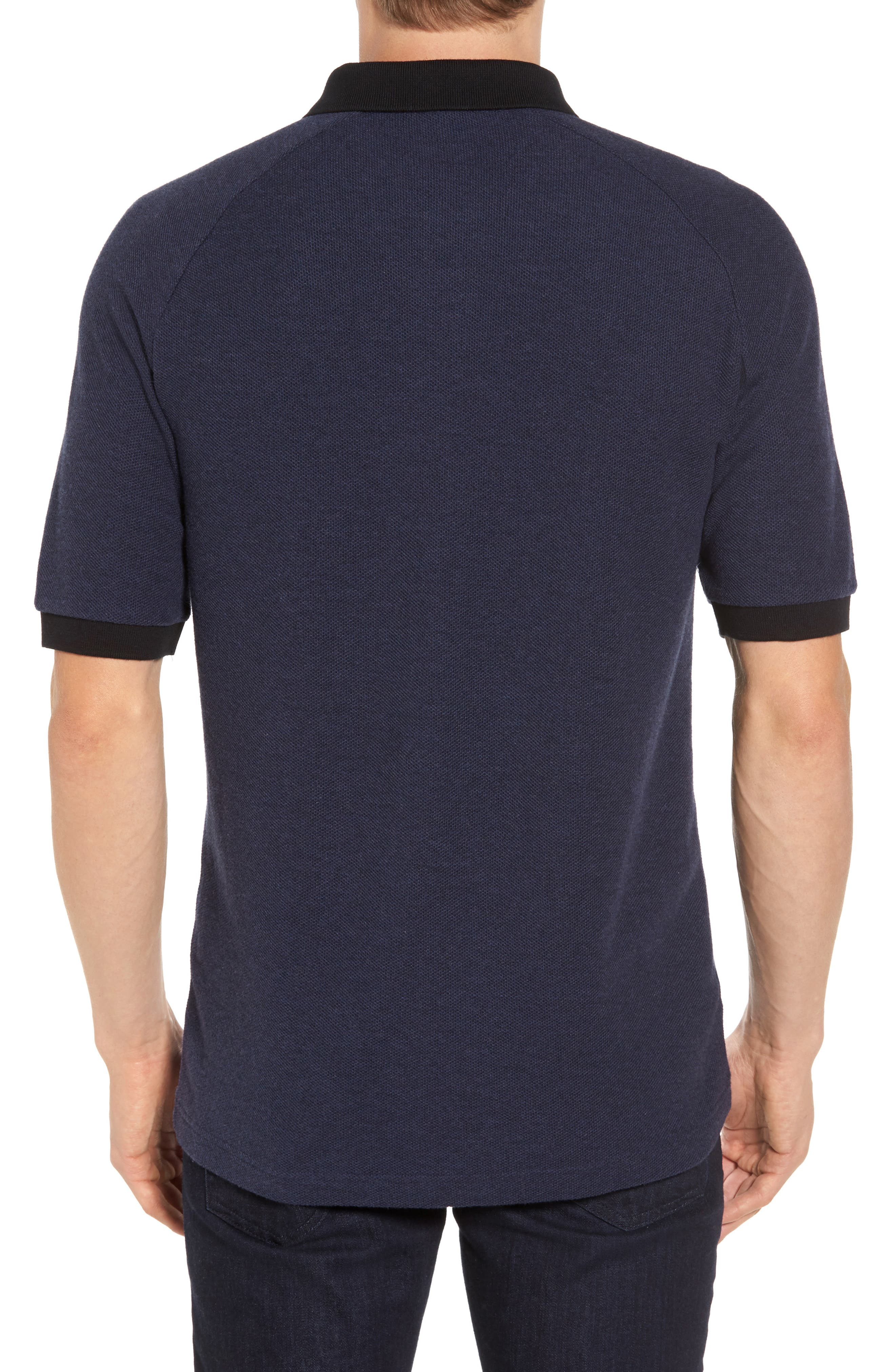 Colorblock Piqué Polo,                             Alternate thumbnail 2, color,                             Twisted French Navy Marl