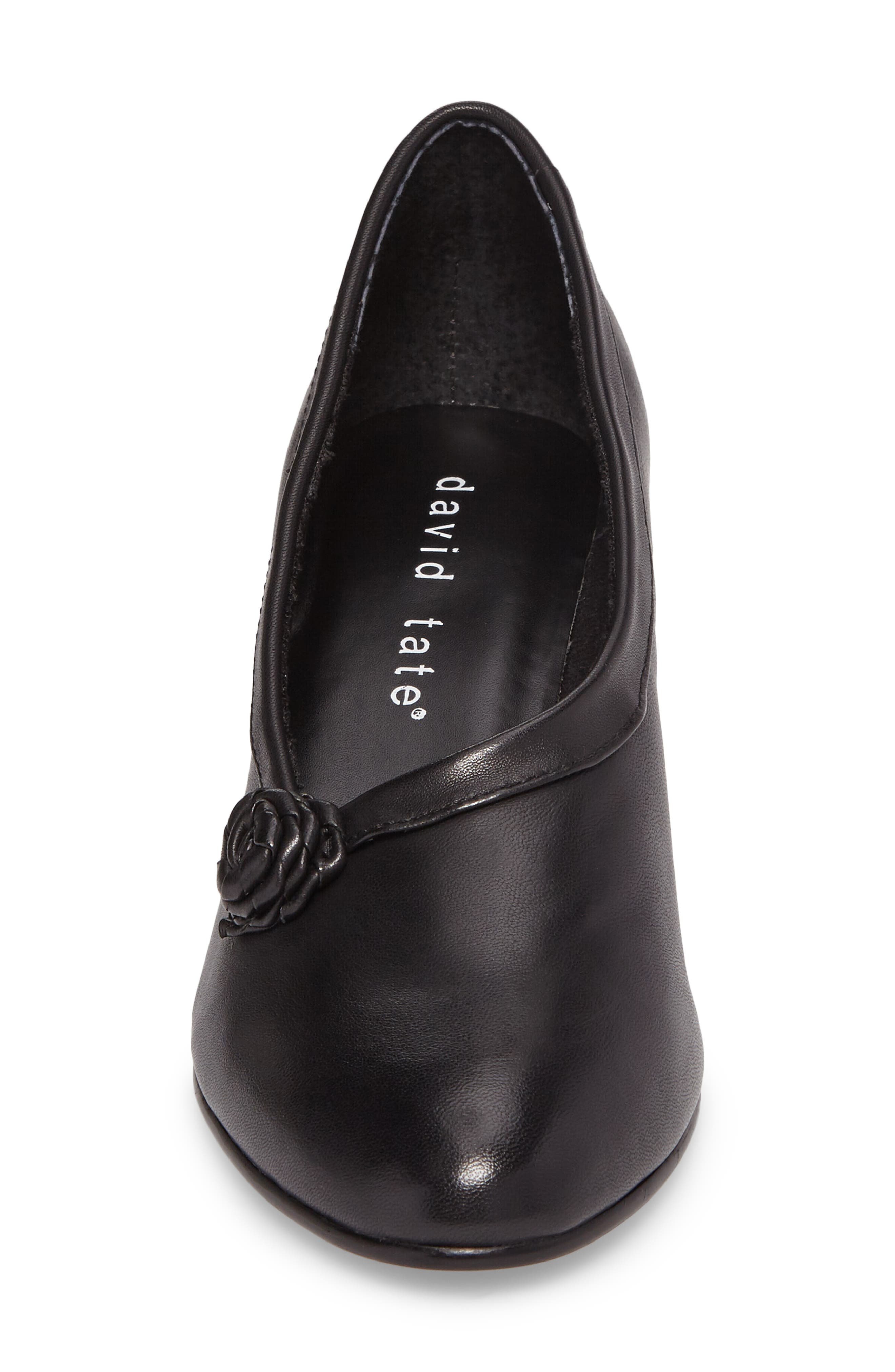 Kelly Pump,                             Alternate thumbnail 4, color,                             Black Leather