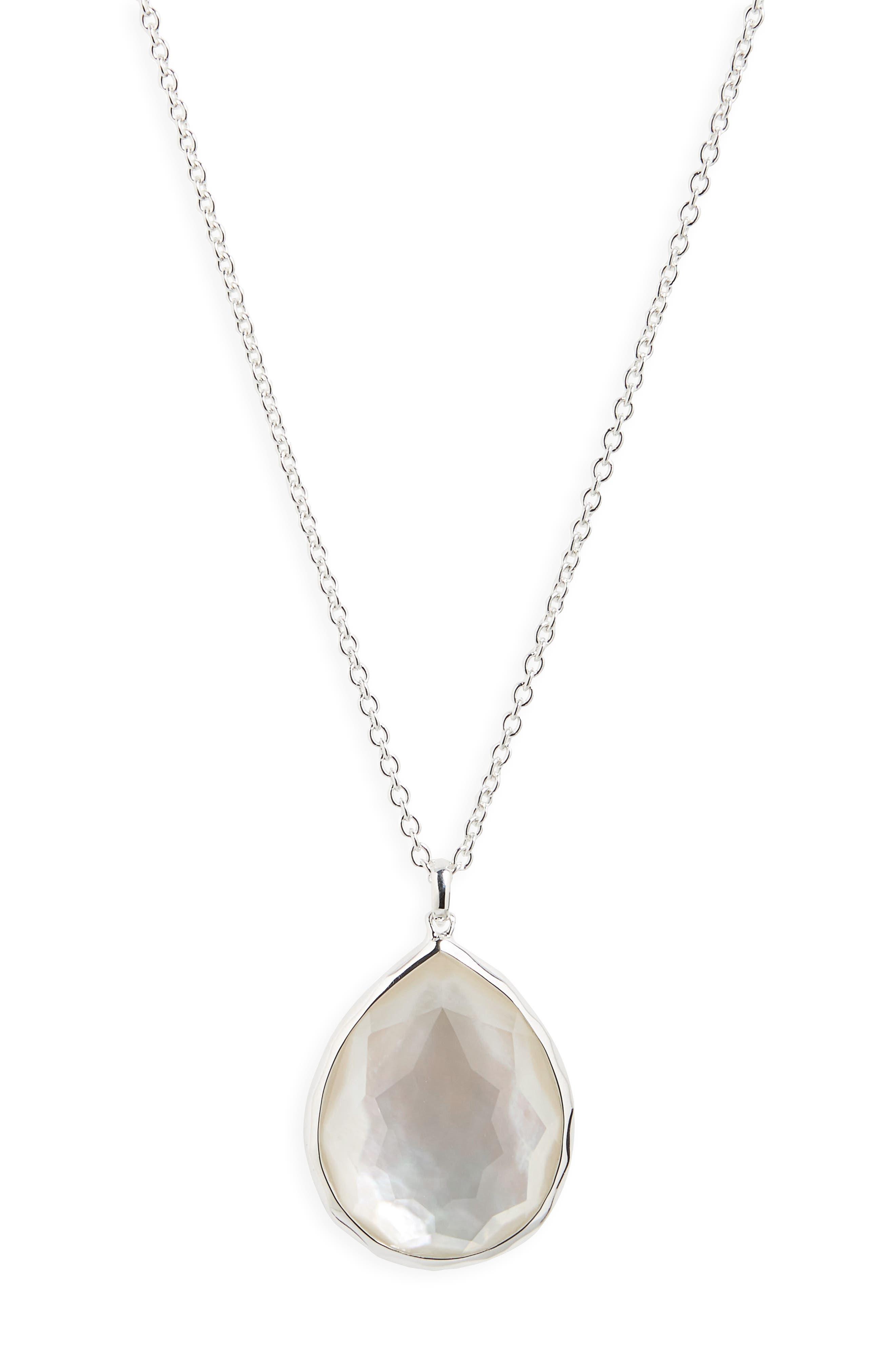 Ippolita Sterling Silver Wonderland Large Teardrop Pendant Necklace