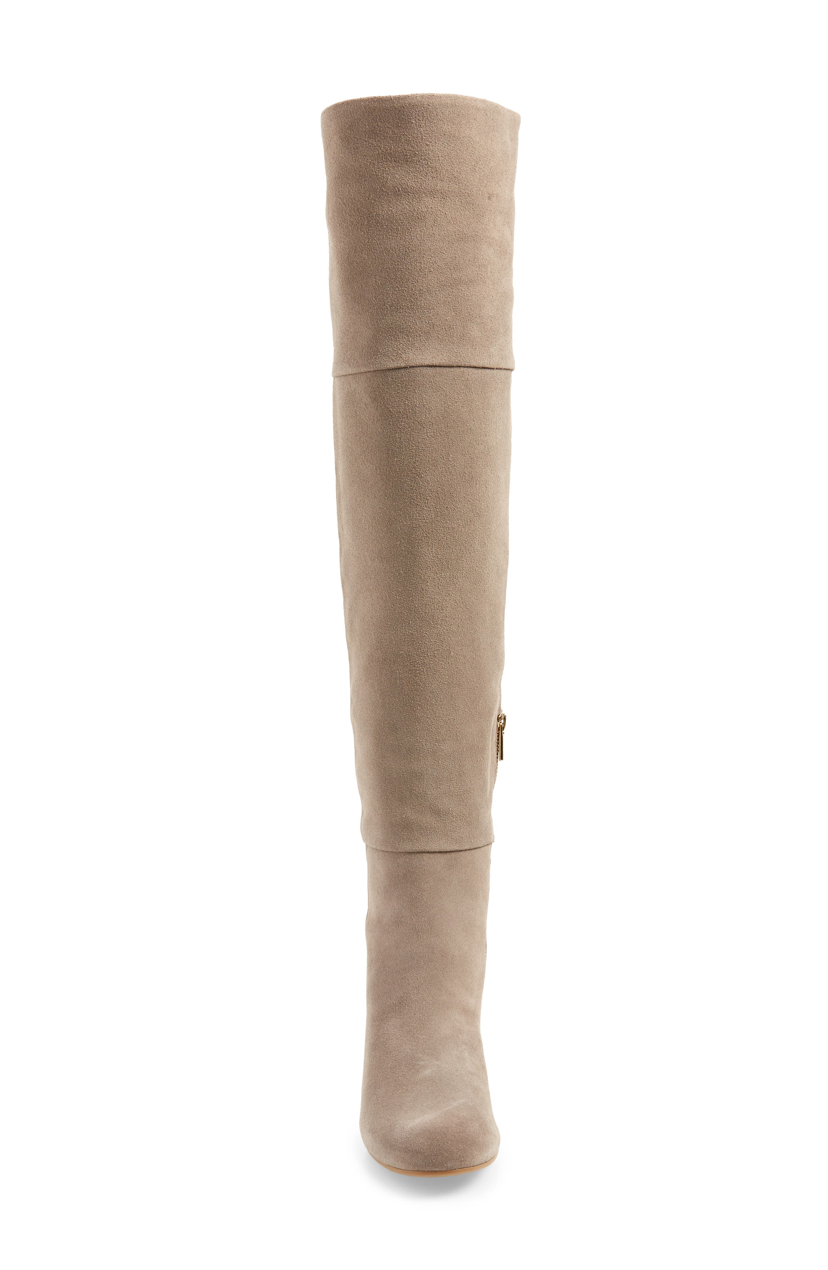Catherine Over the Knee Boot,                             Alternate thumbnail 4, color,                             Grey Suede