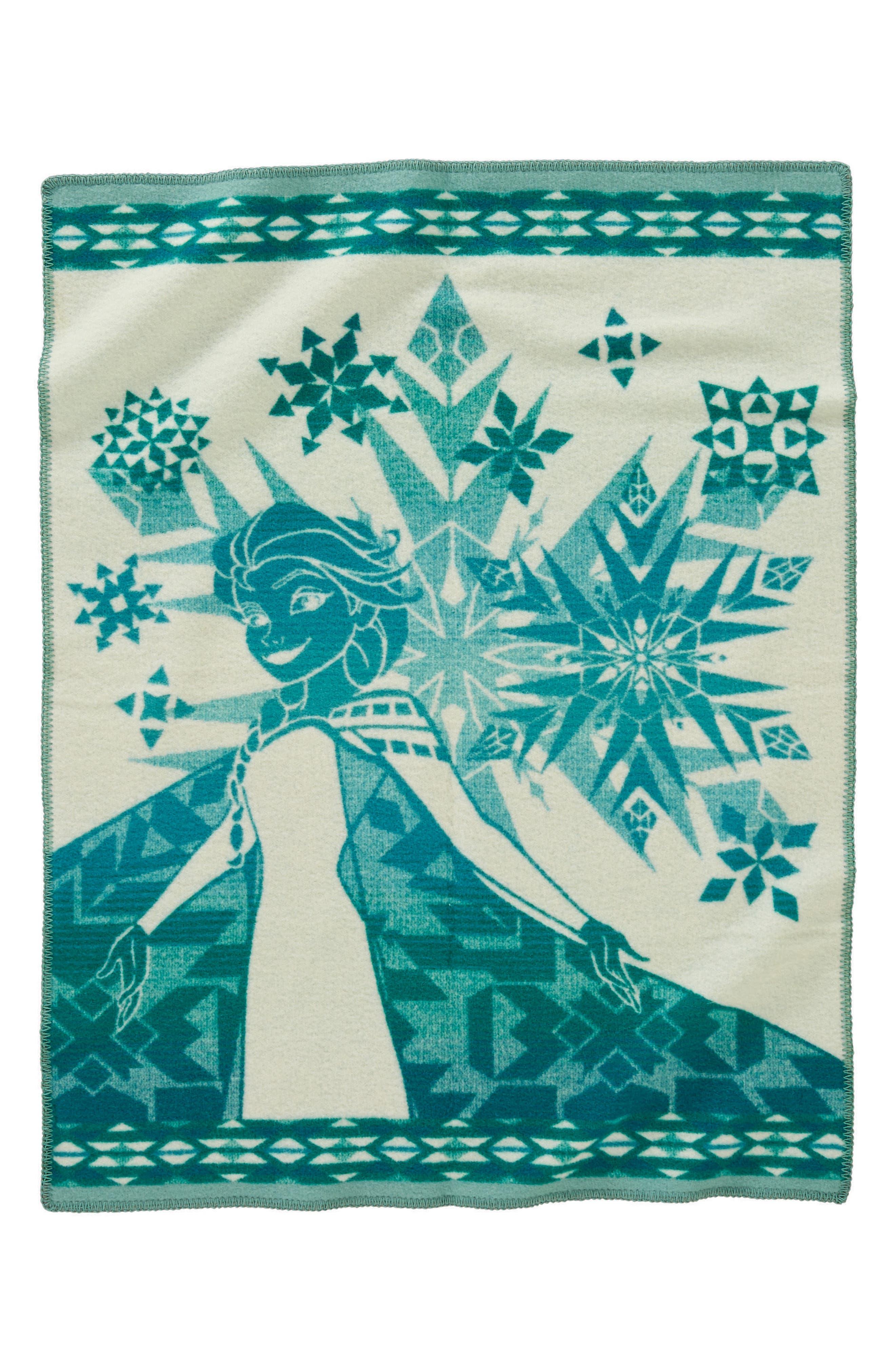 Elsa's Courage Blanket Throw,                             Alternate thumbnail 2, color,                             Green