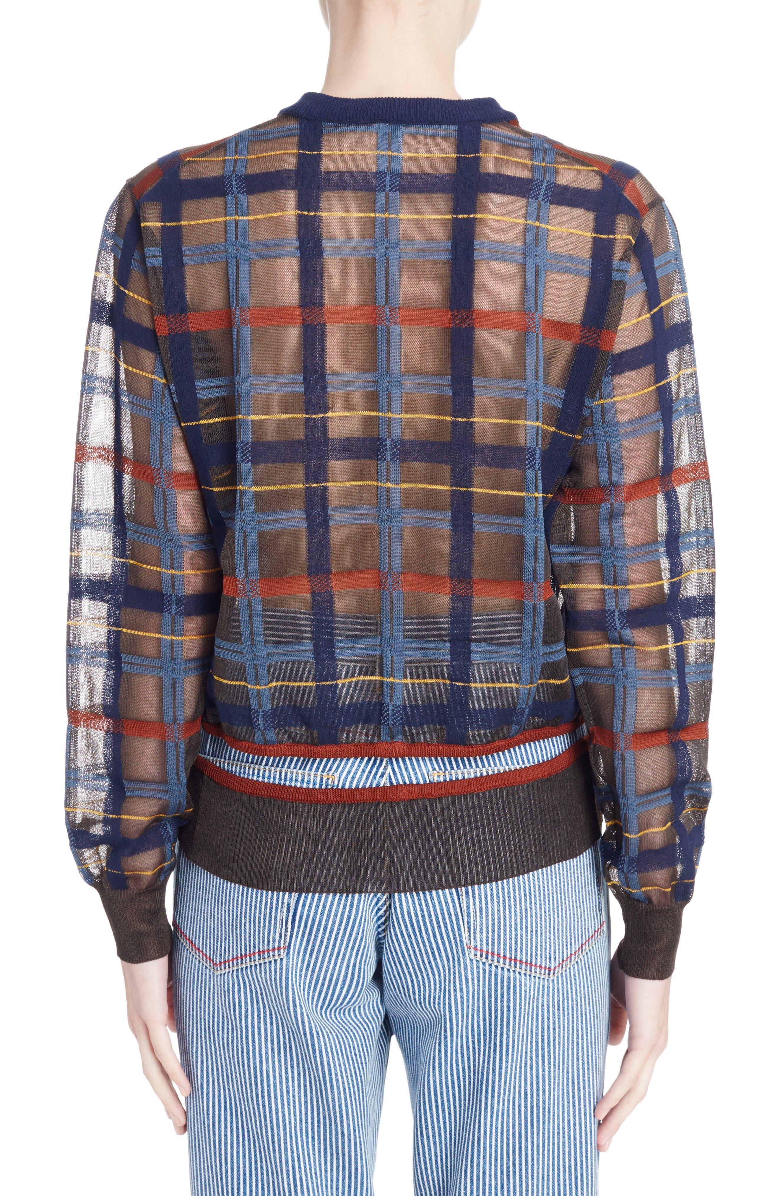 Alternate Image 2  - Toga Check Knit Sweater