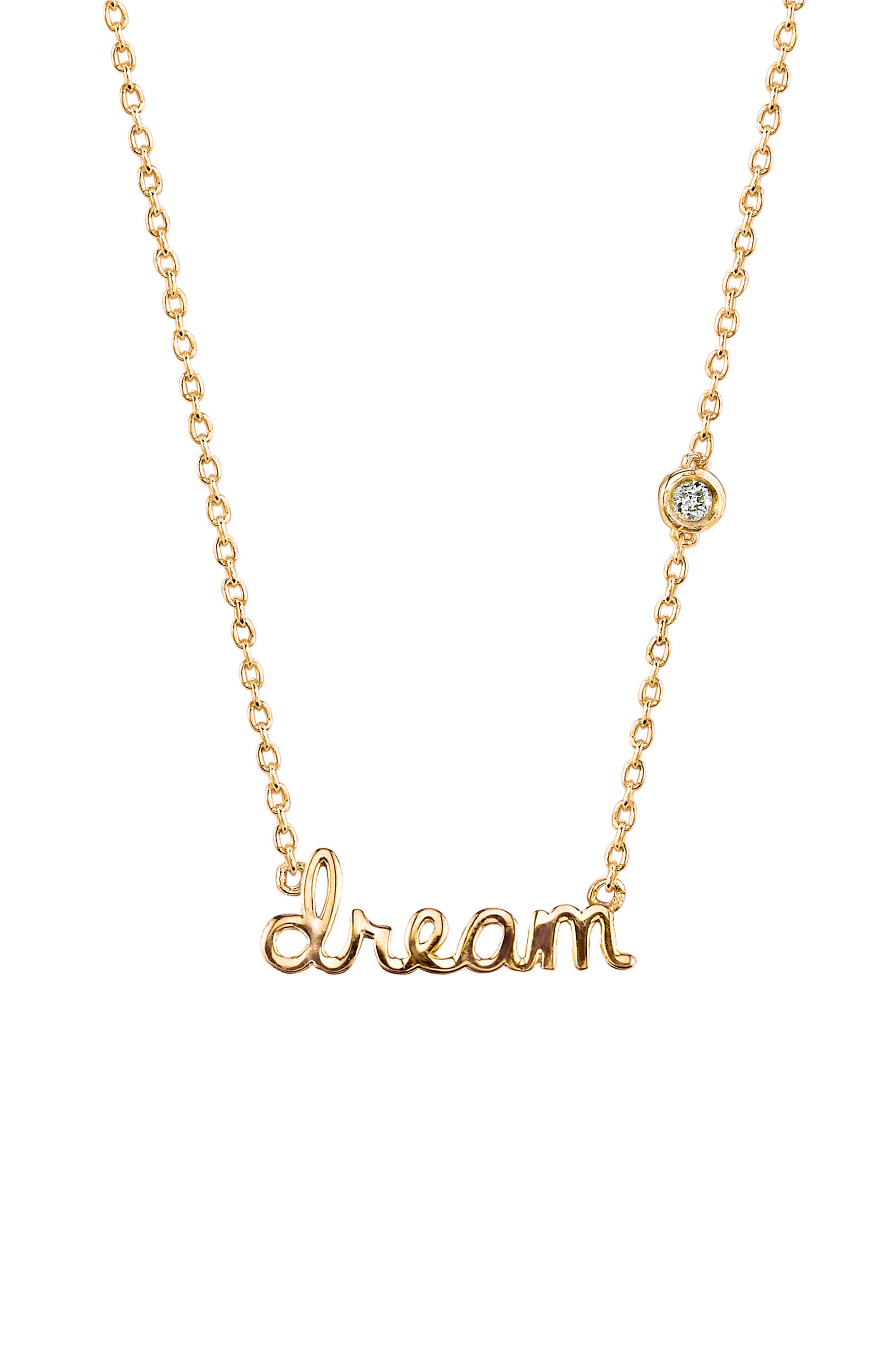 Dream Diamond Pendant Necklace,                         Main,                         color, Gold