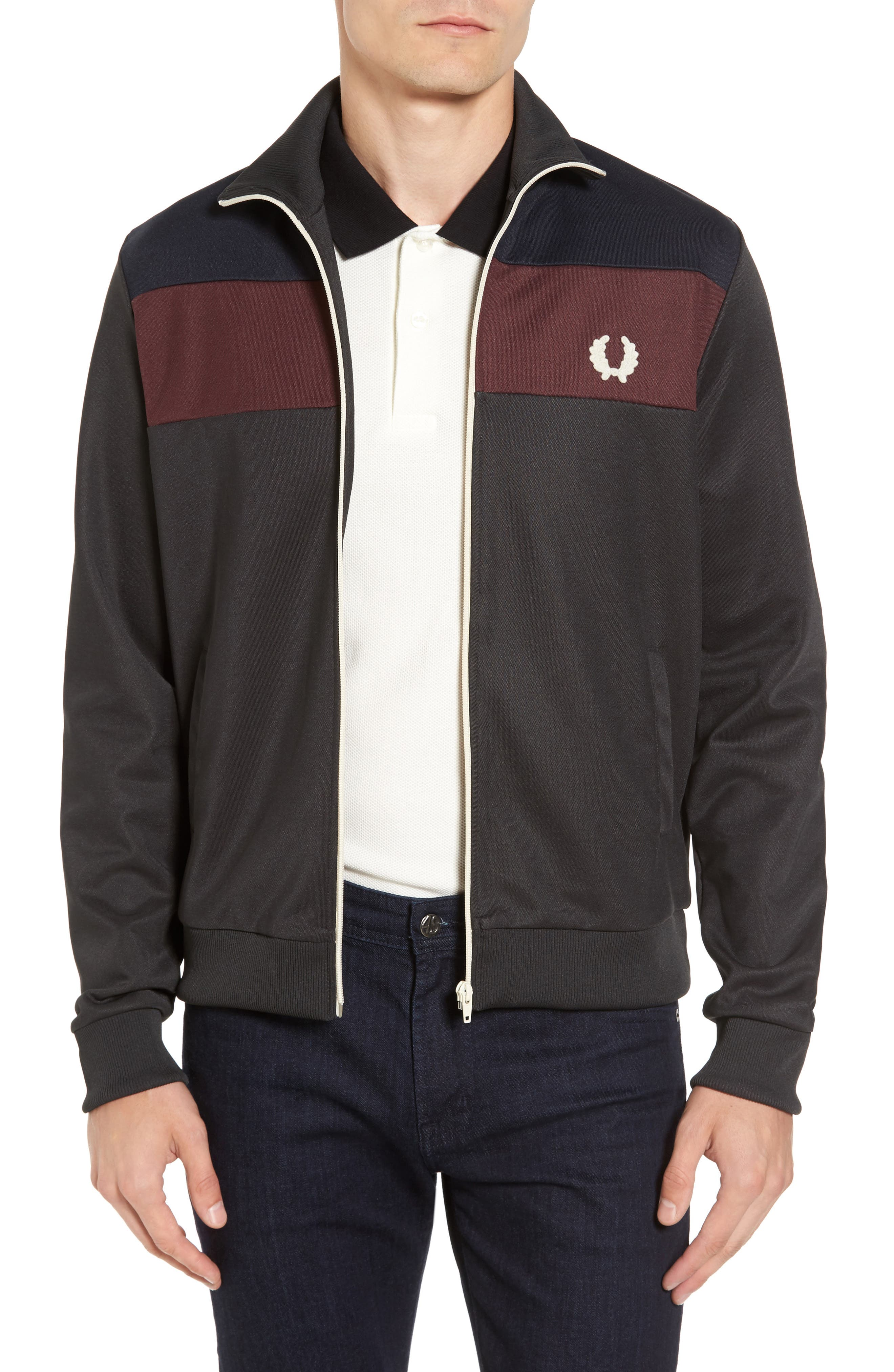 Colorblock Track Jacket,                             Main thumbnail 1, color,                             Anthracite