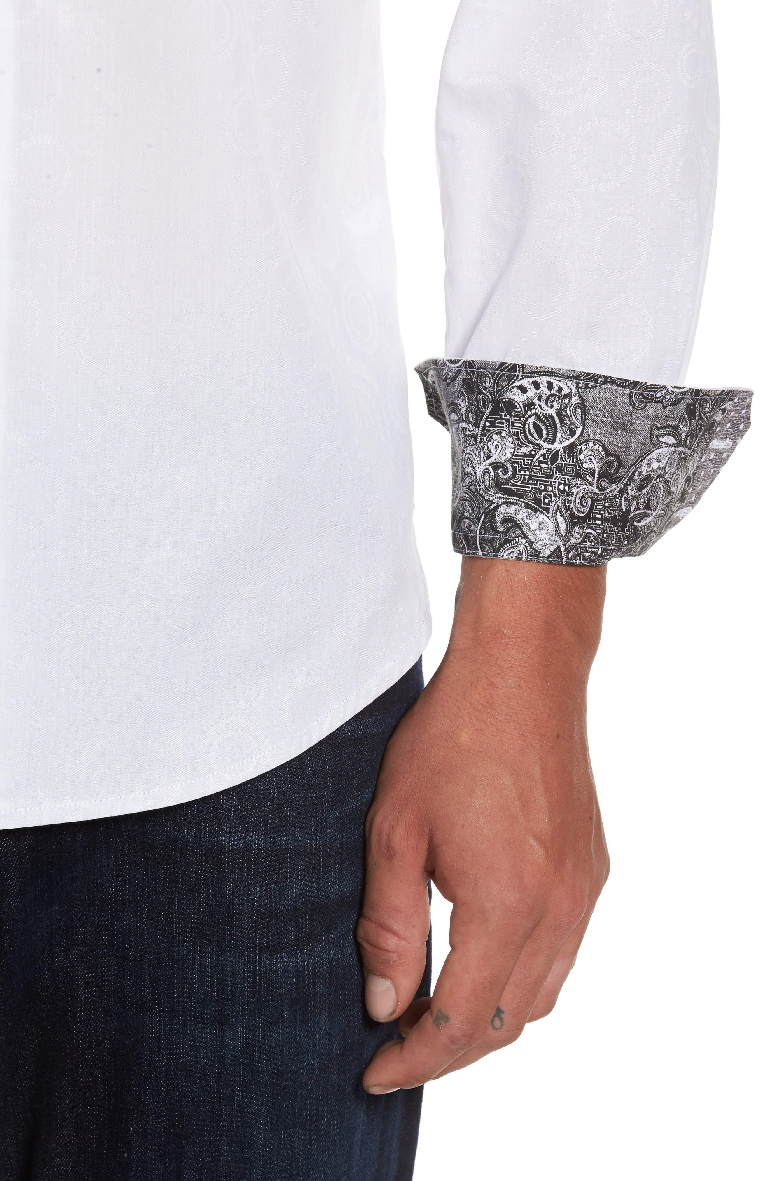 Binghampton Regular Fit Sport Shirt,                             Alternate thumbnail 4, color,                             White
