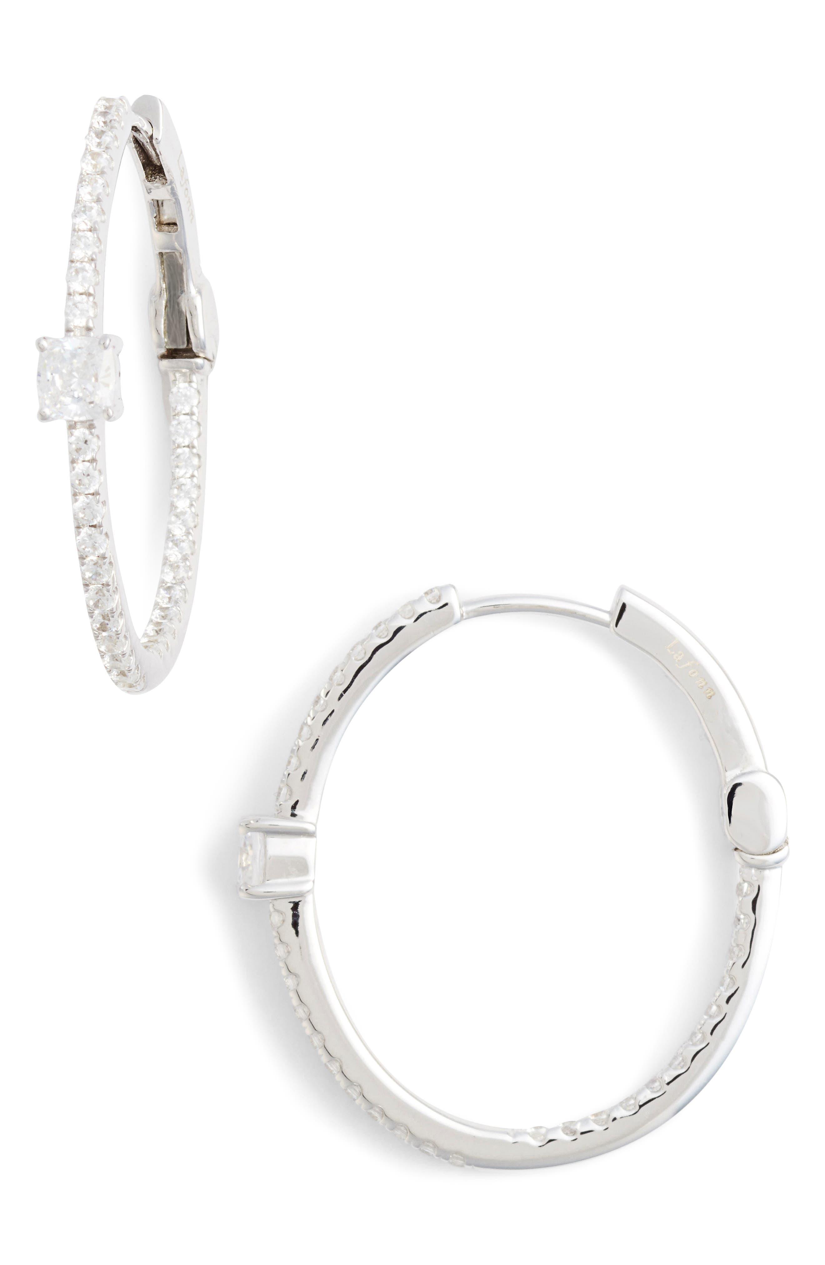 Main Image - Lafonn Simulated Diamond Hoop Earrings