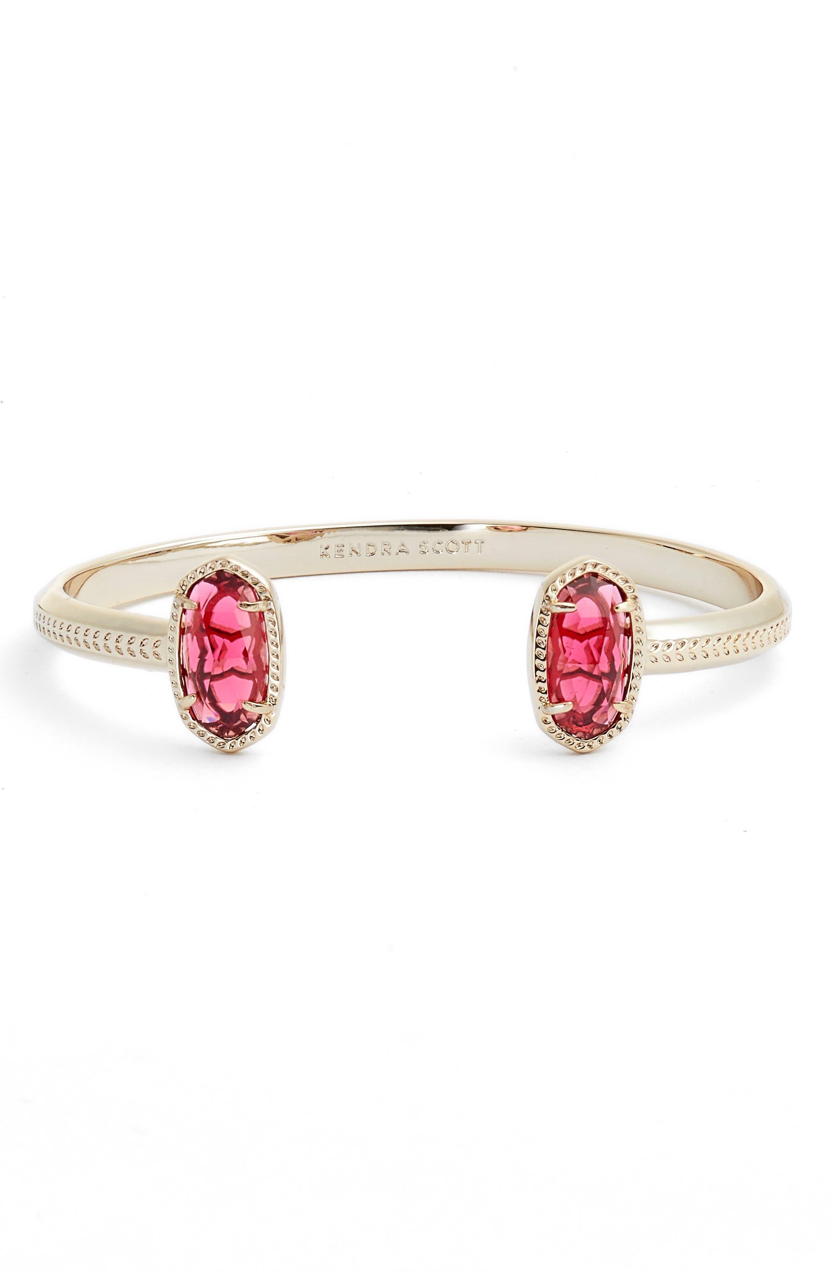 Elton Station Cuff Bracelet,                         Main,                         color, Berry/ Brass