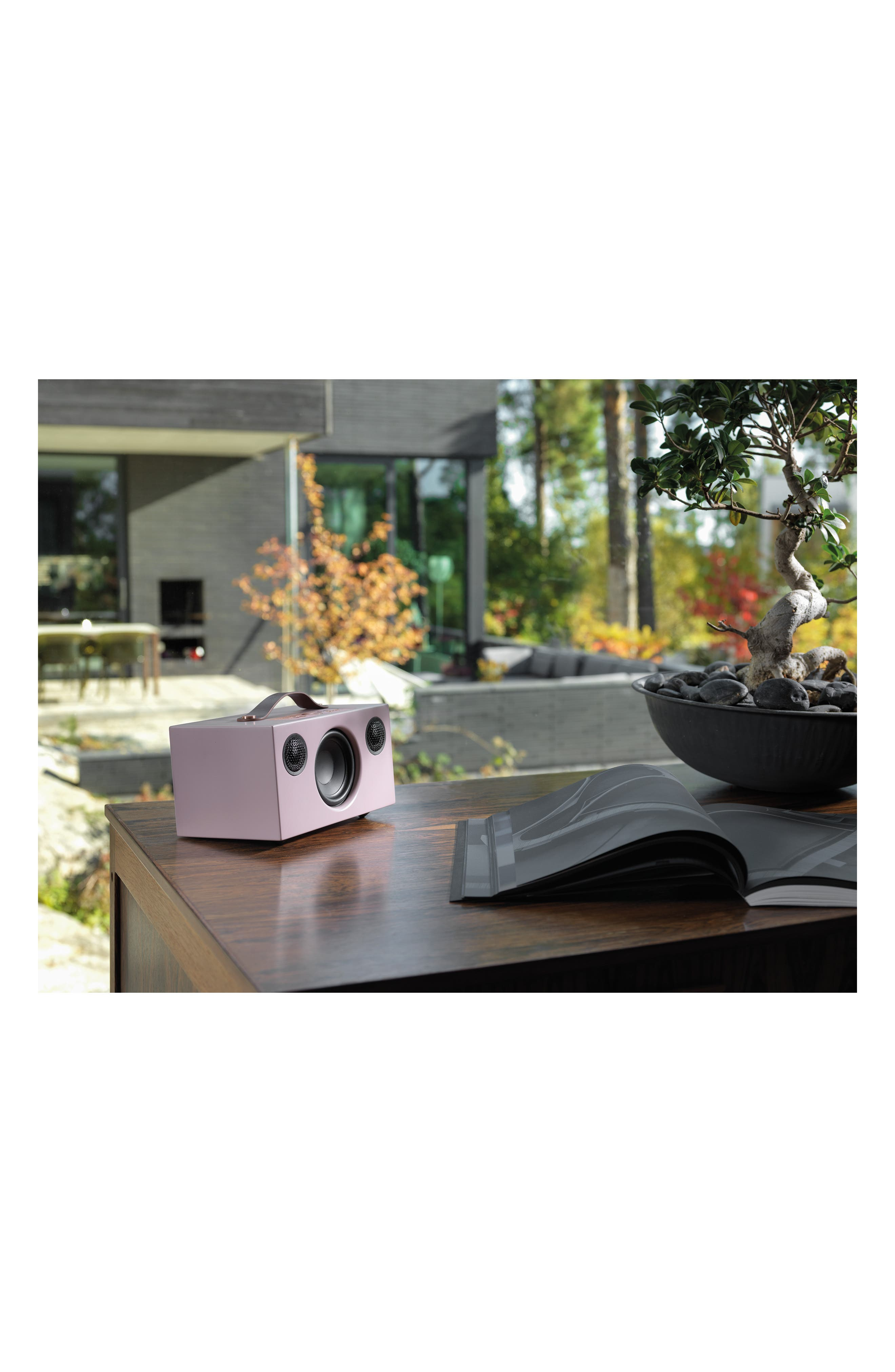 Addon C5 WiFi Multi Room Bluetooth Speaker,                             Alternate thumbnail 4, color,                             Dirty Pink