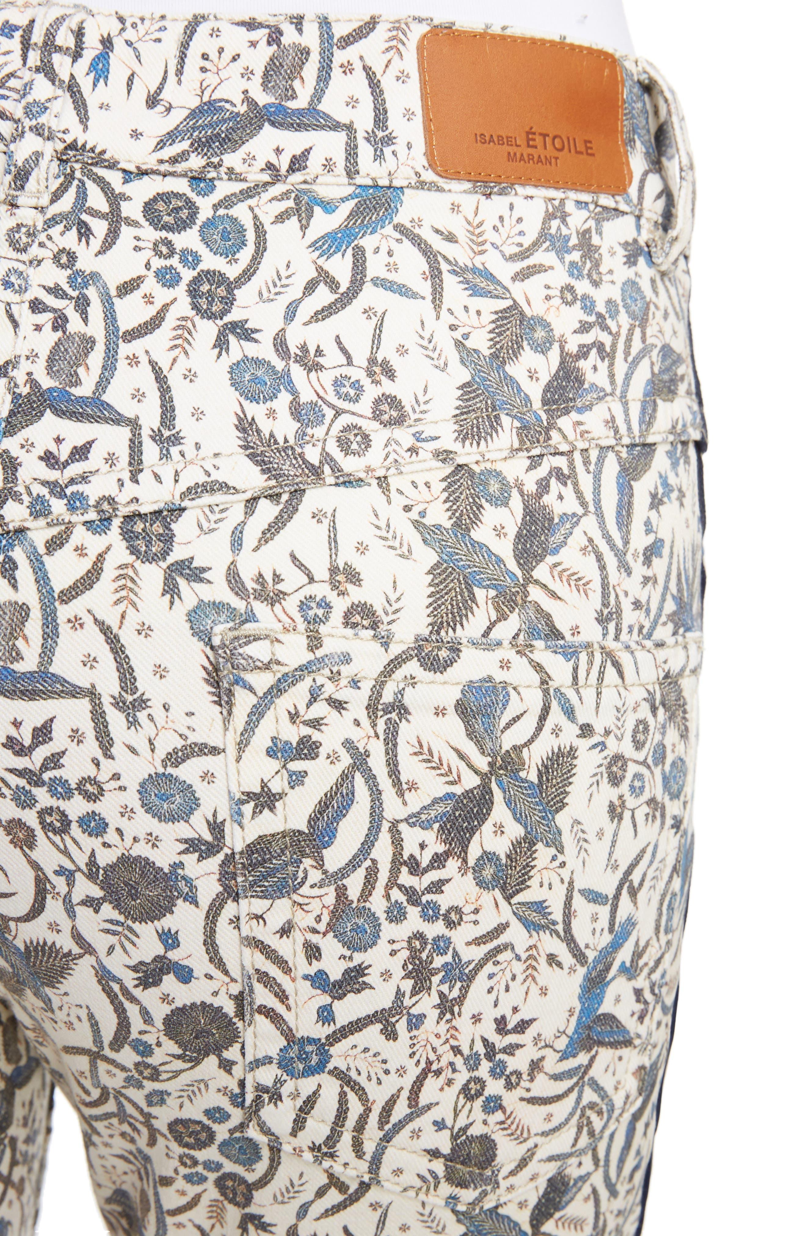 Alternate Image 4  - Isabel Marant Étoile Ugo Print Crop Jeans