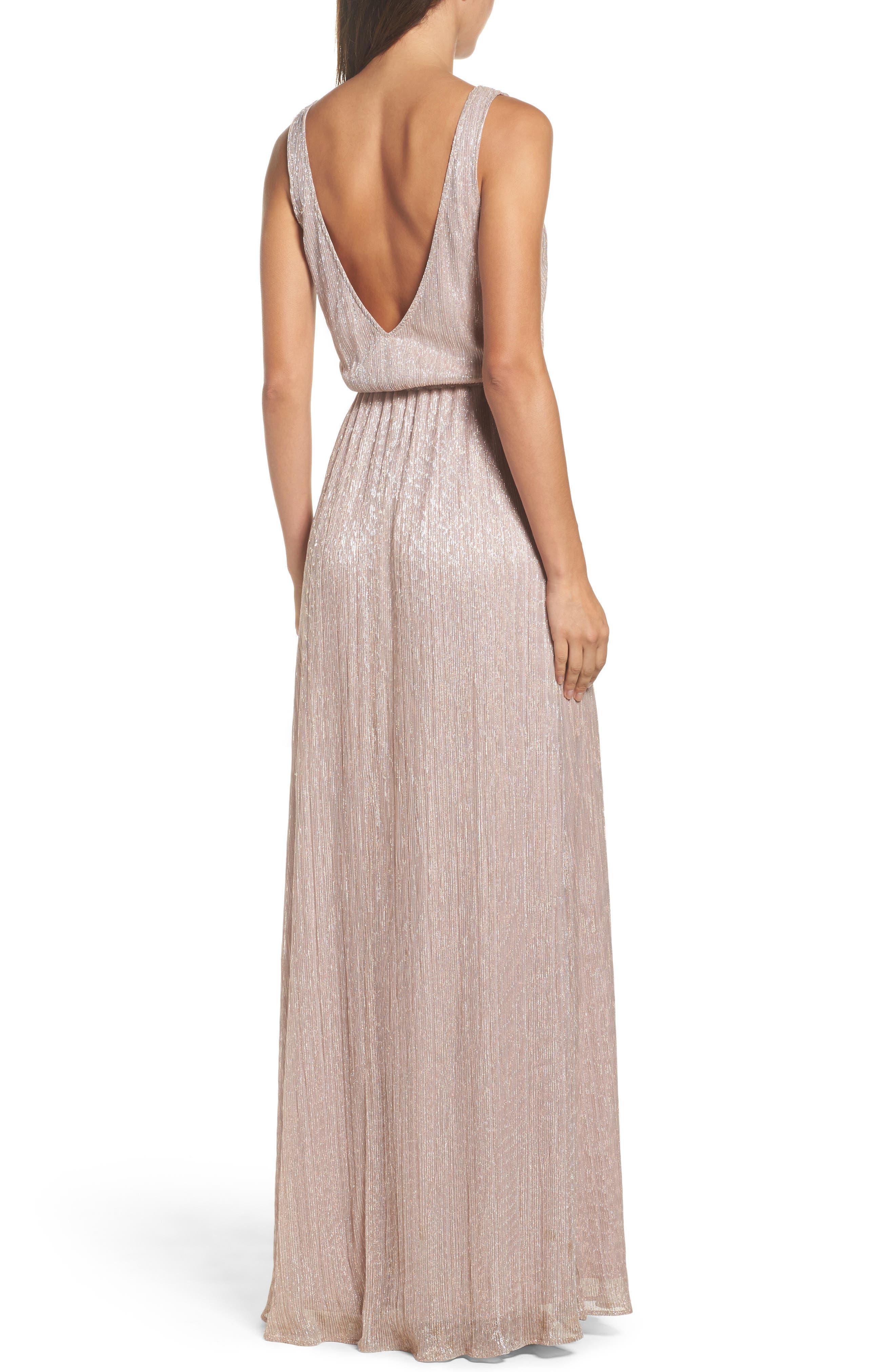 Kendall Blouson Maxi Dress,                             Alternate thumbnail 2, color,                             Magic Muave Glitter