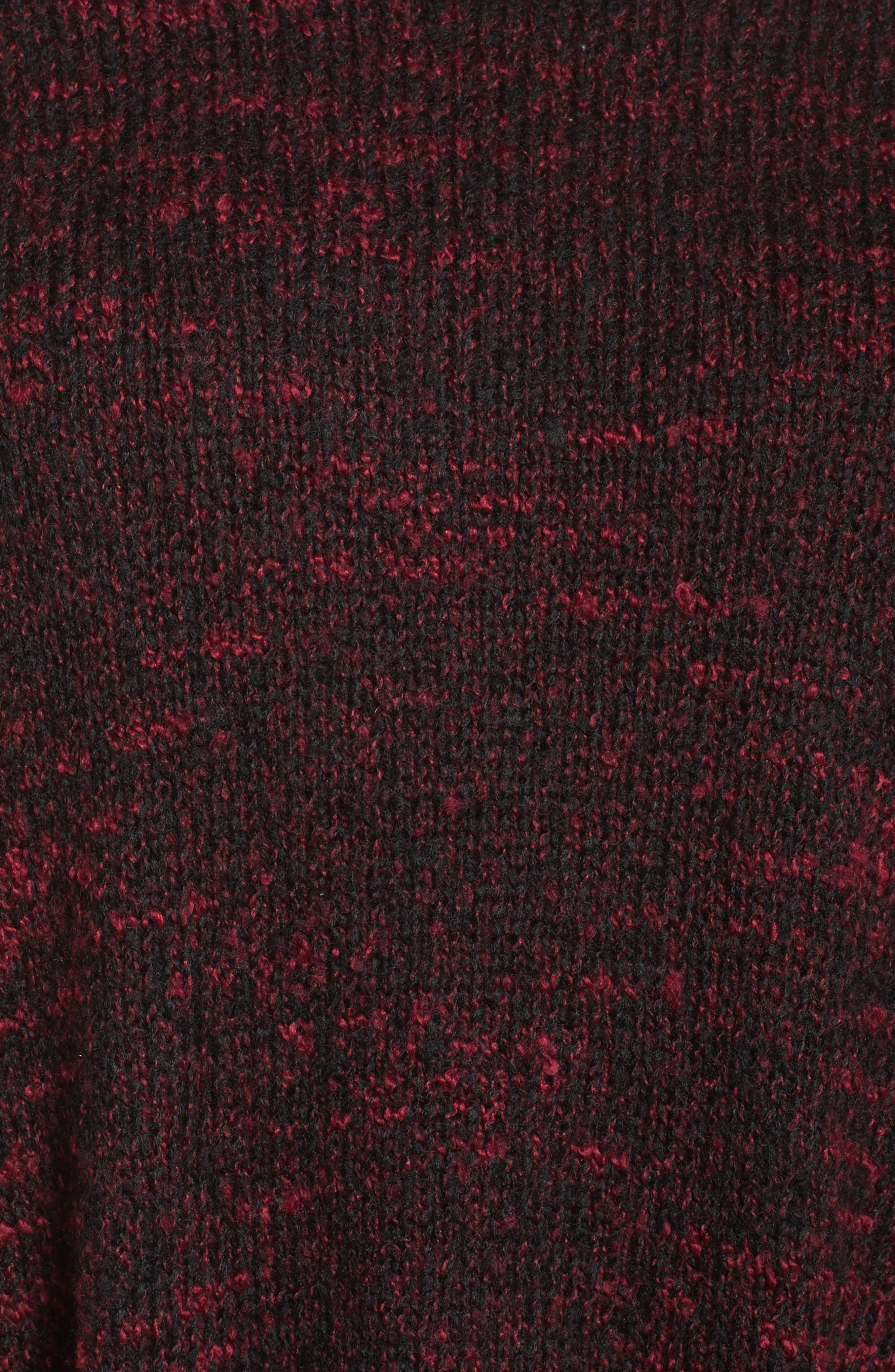 Mock Neck Knit Sweater,                             Alternate thumbnail 5, color,                             Pink Combo