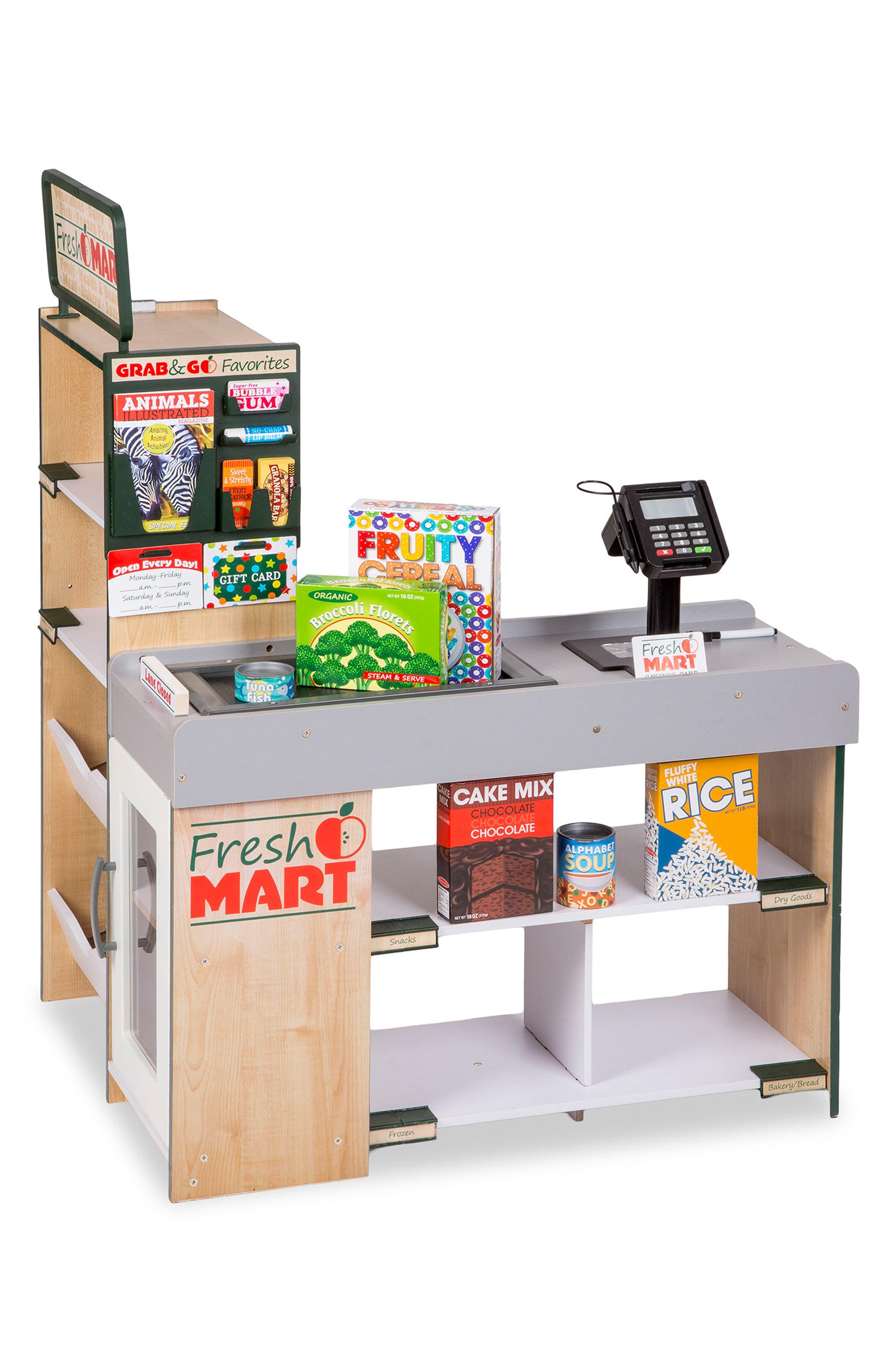 Grocery Store Scene,                         Main,                         color, Multi