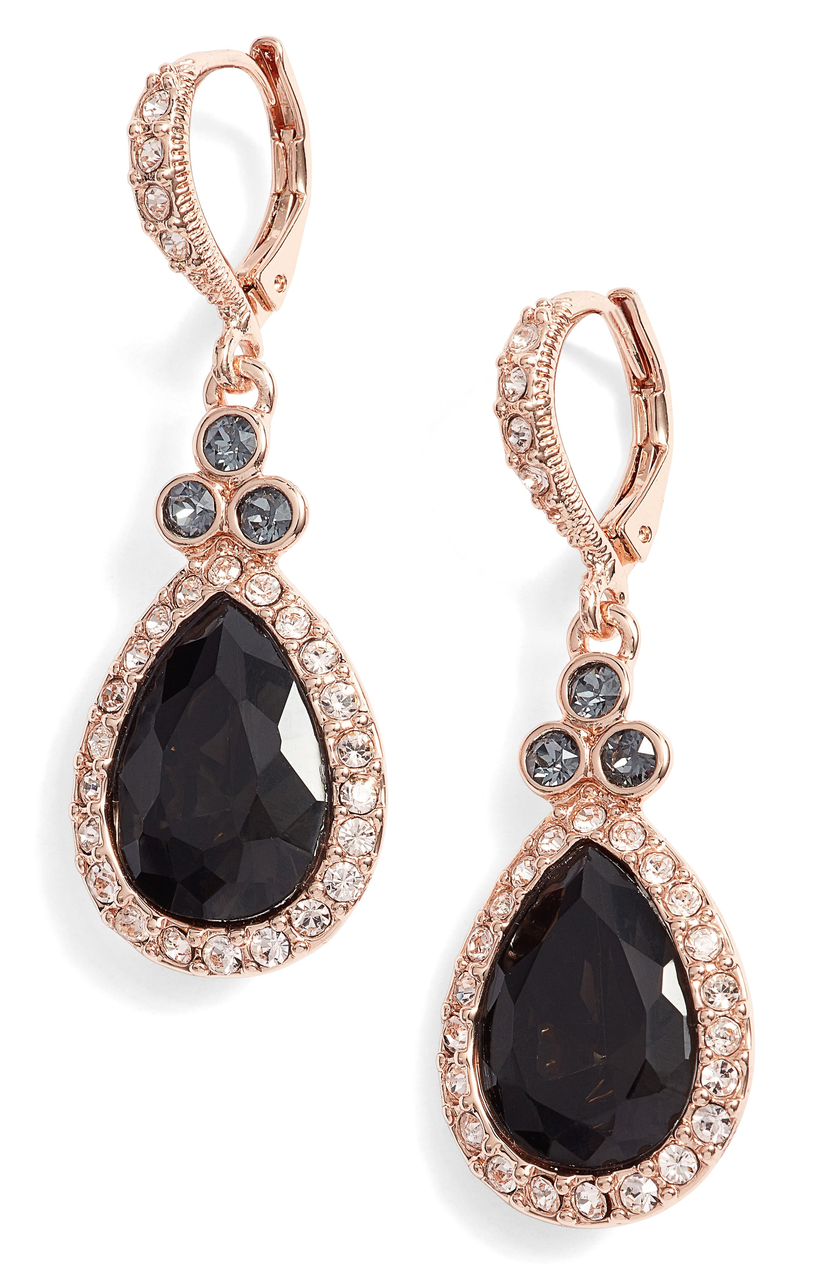 Alternate Image 1 Selected - Givenchy Pavé Pear Drop Earrings