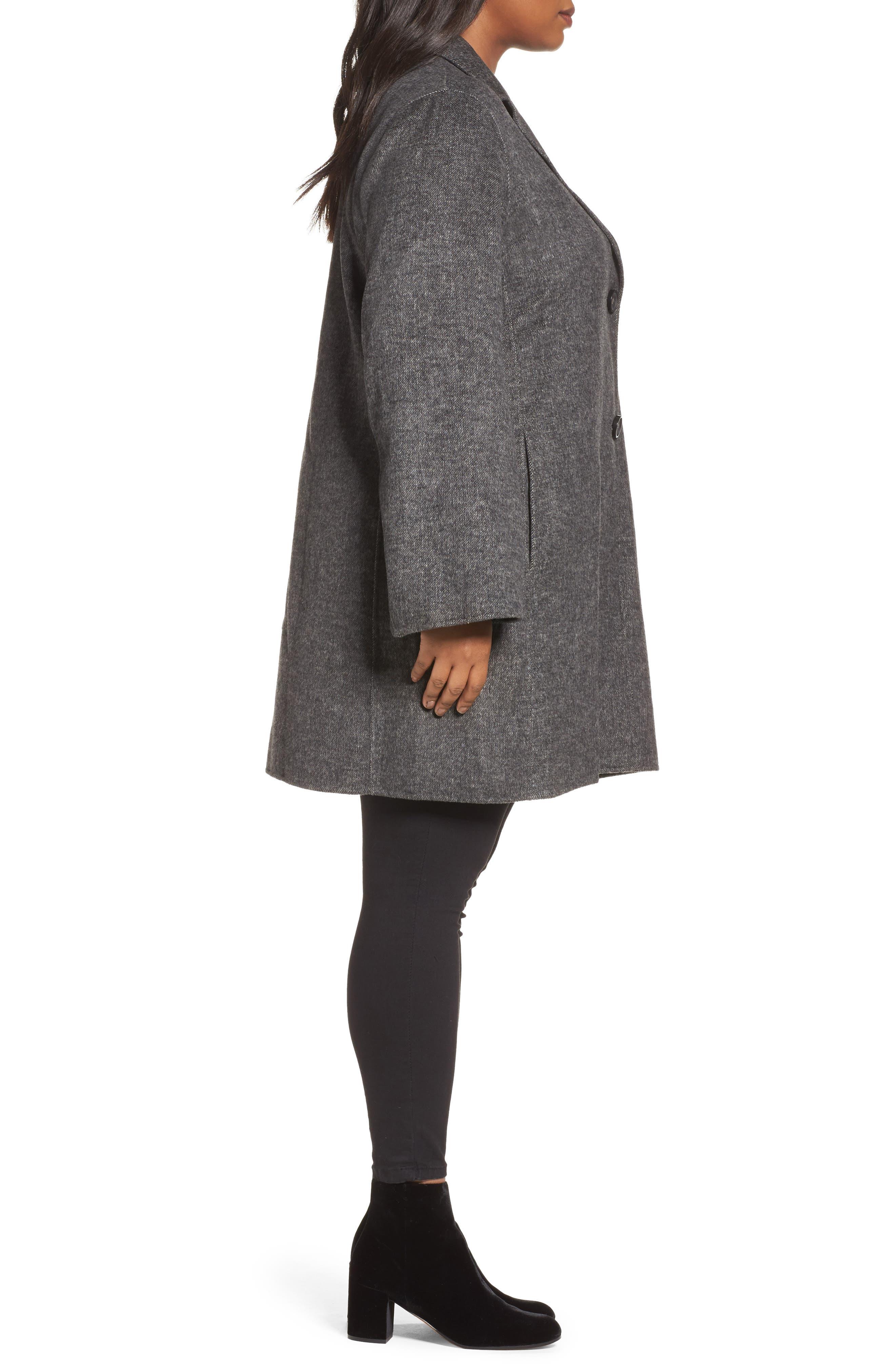 Alternate Image 3  - Tahari Jayden Car Coat (Plus Size)