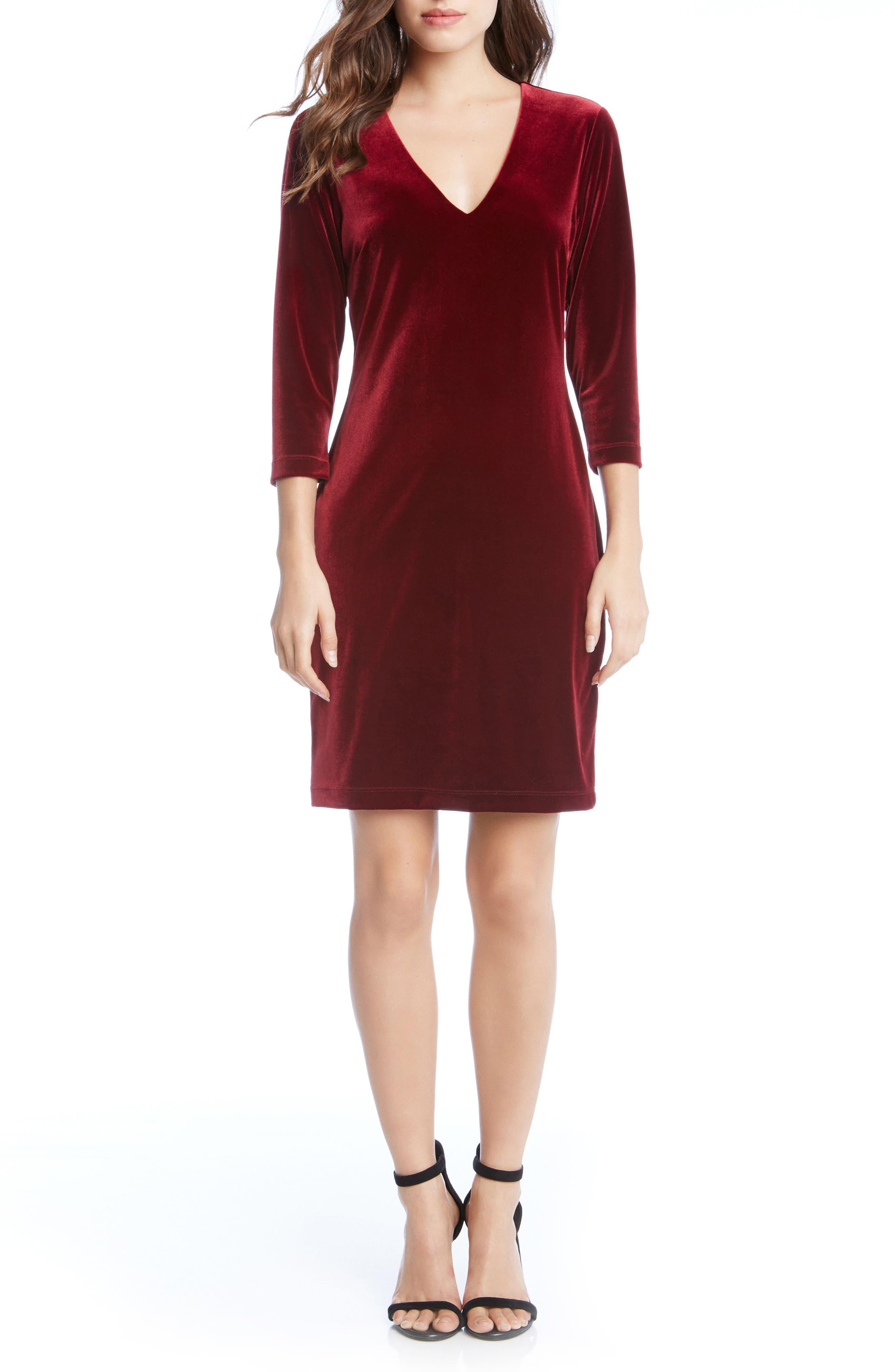 Karen Kane Velvet Sheath Dress