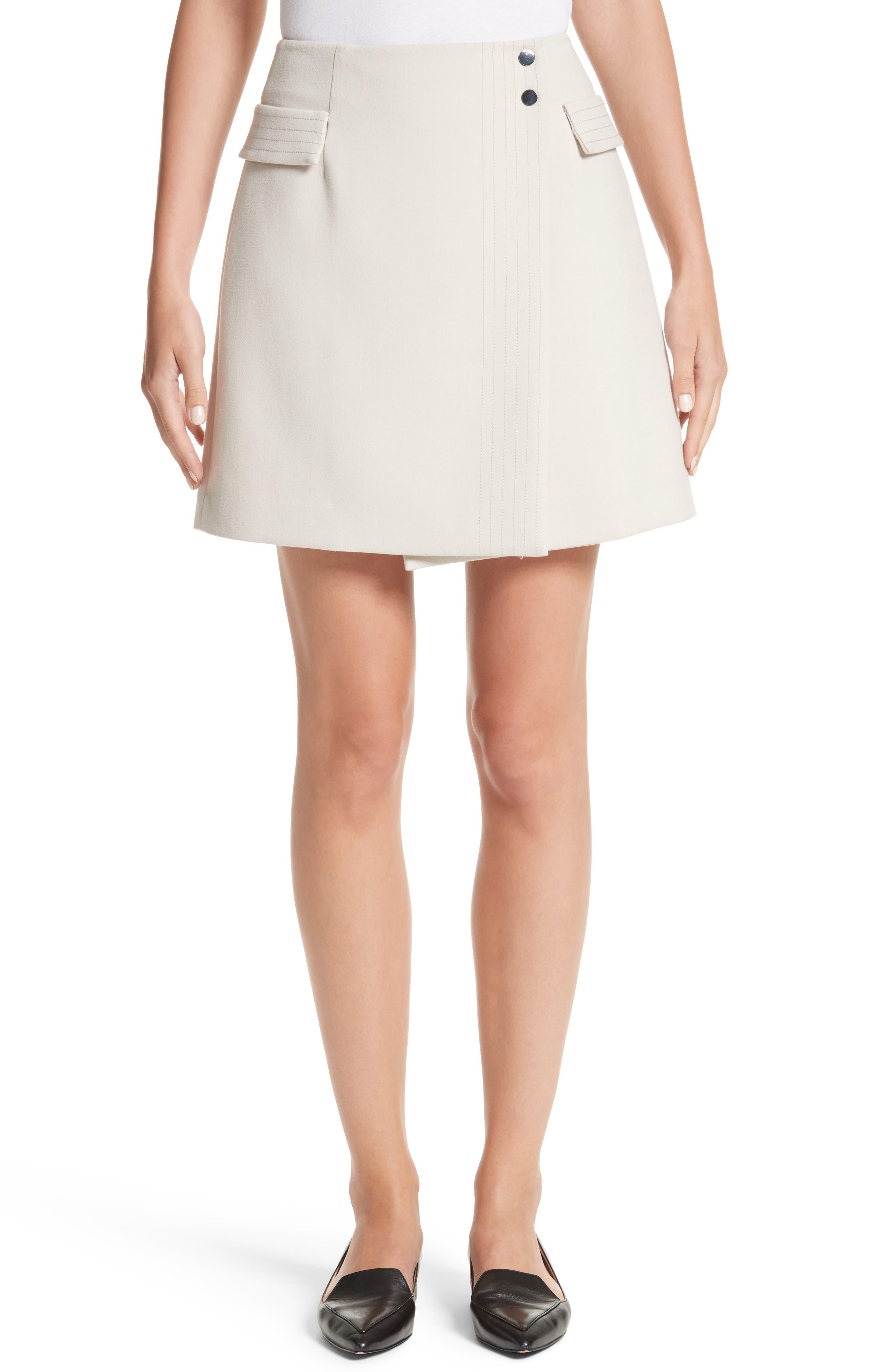 Armani Jeans Crepe Wrap Skirt,                         Main,                         color, Beige