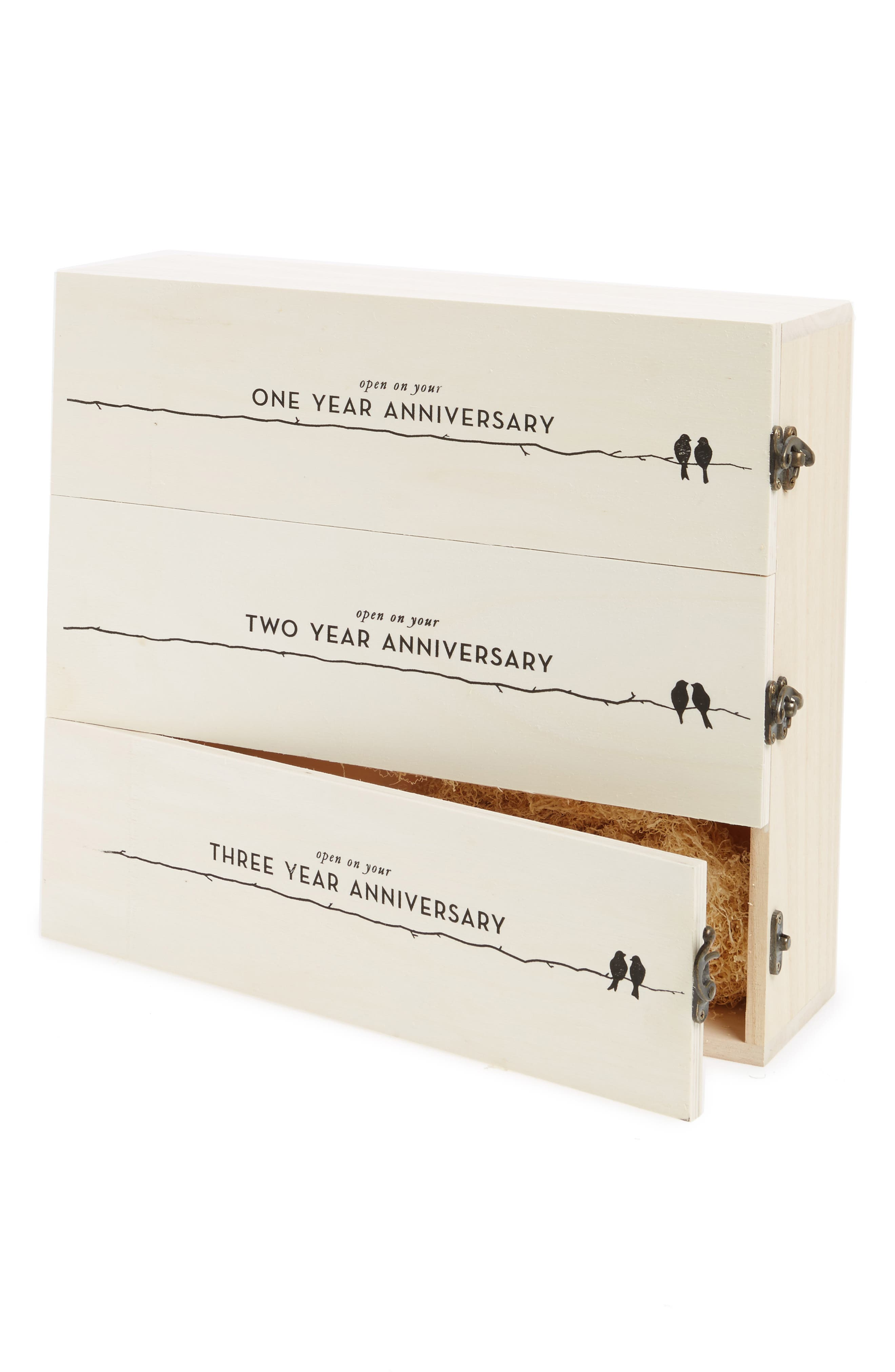 Anniversary Wine Box,                             Main thumbnail 1, color,                             Beige