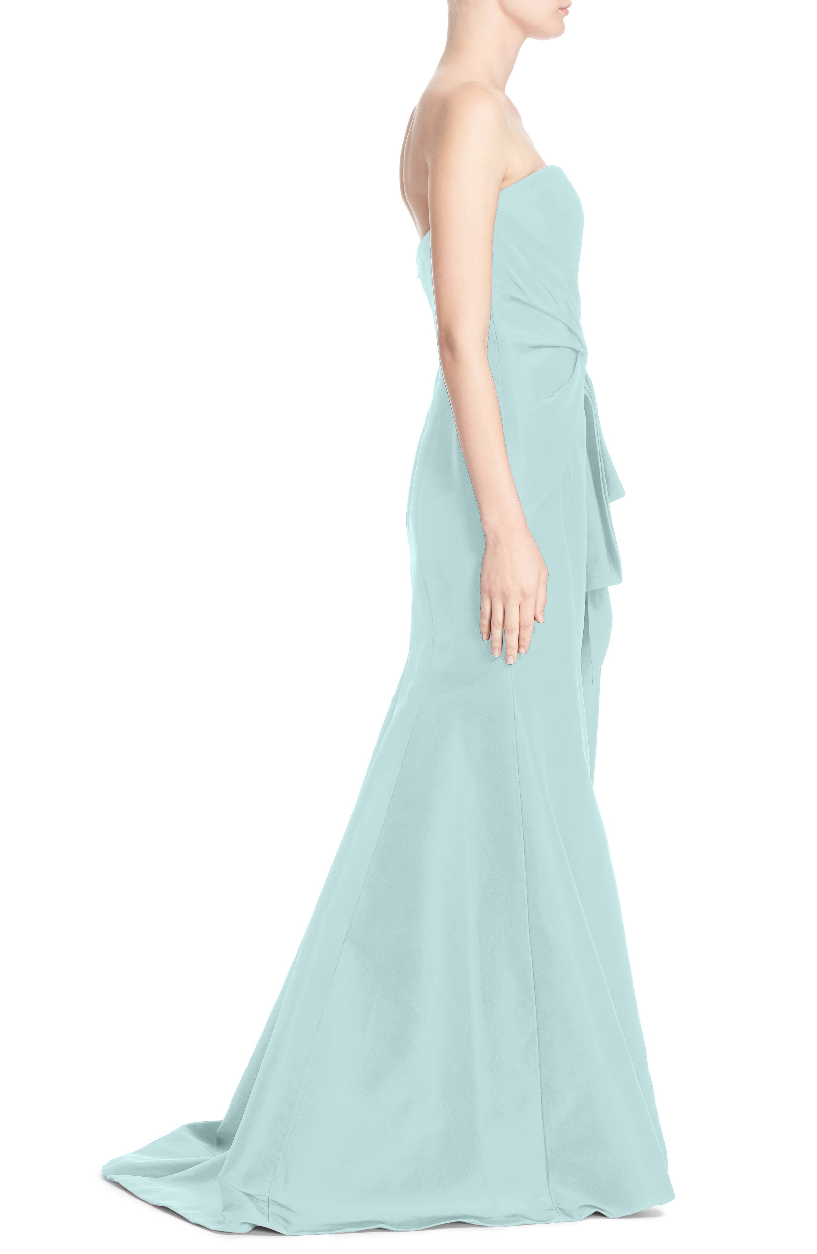 Alternate Image 3  - Carolina Herrera Bow Detail Strapless Silk Faille Gown