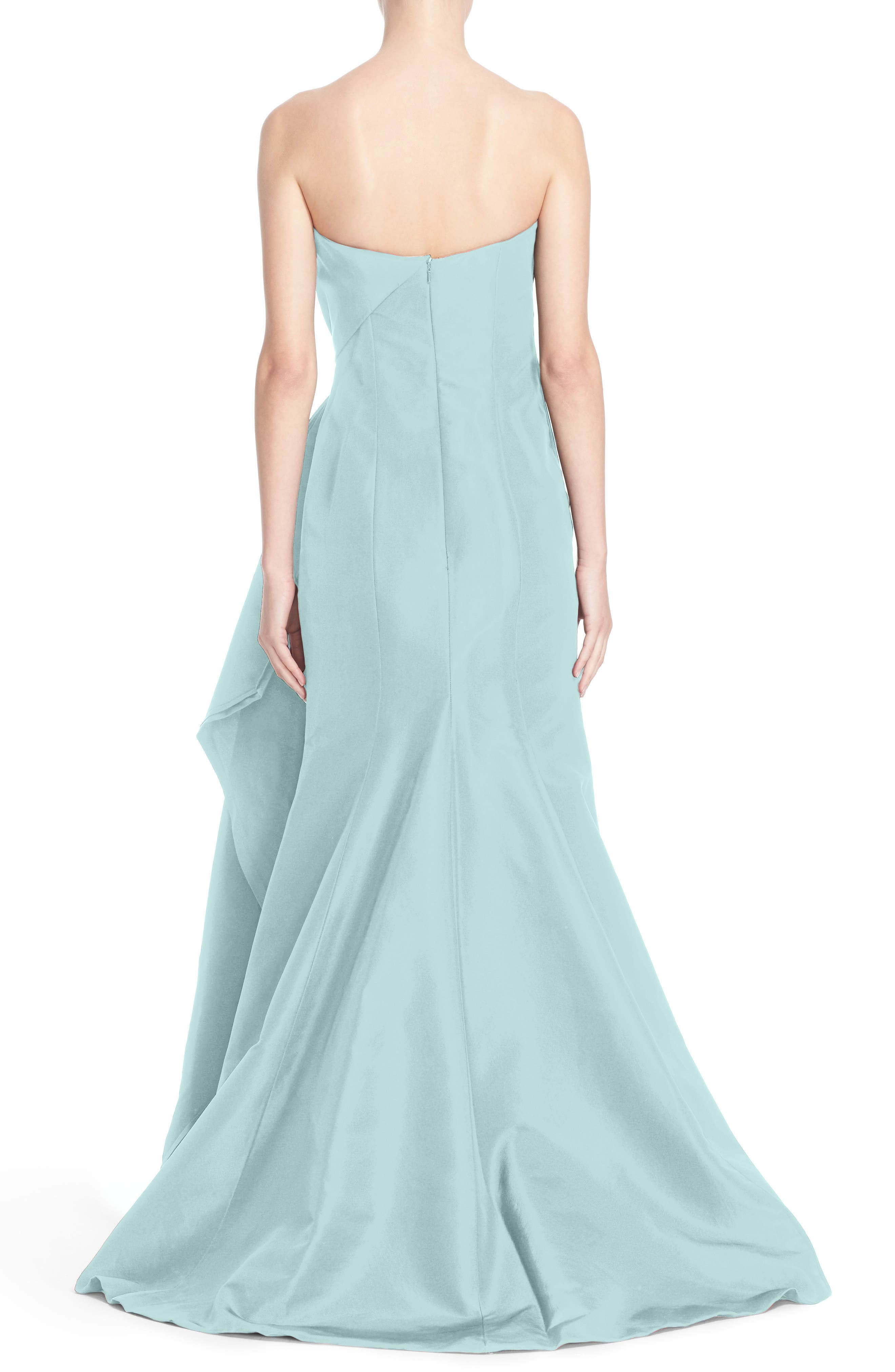 Alternate Image 2  - Carolina Herrera Bow Detail Strapless Silk Faille Gown